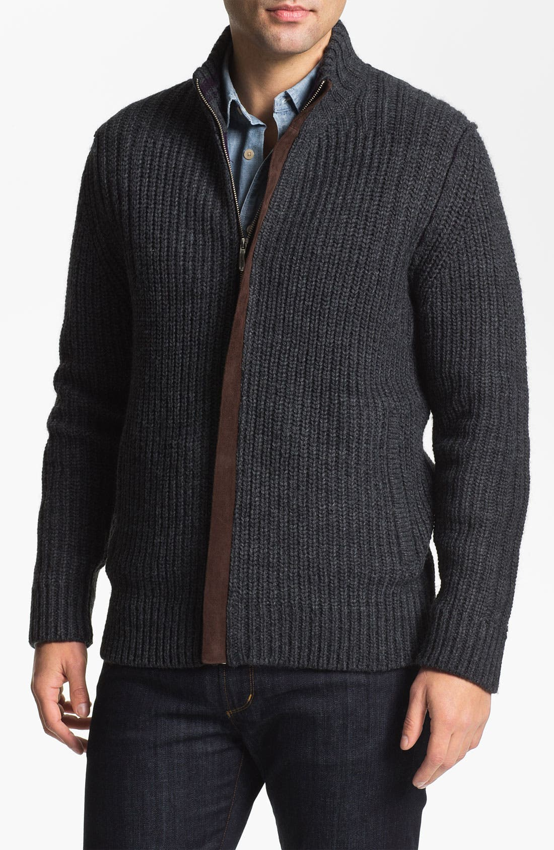 Alternate Image 1 Selected - Tommy Bahama 'The Persueder' Zip Cardigan