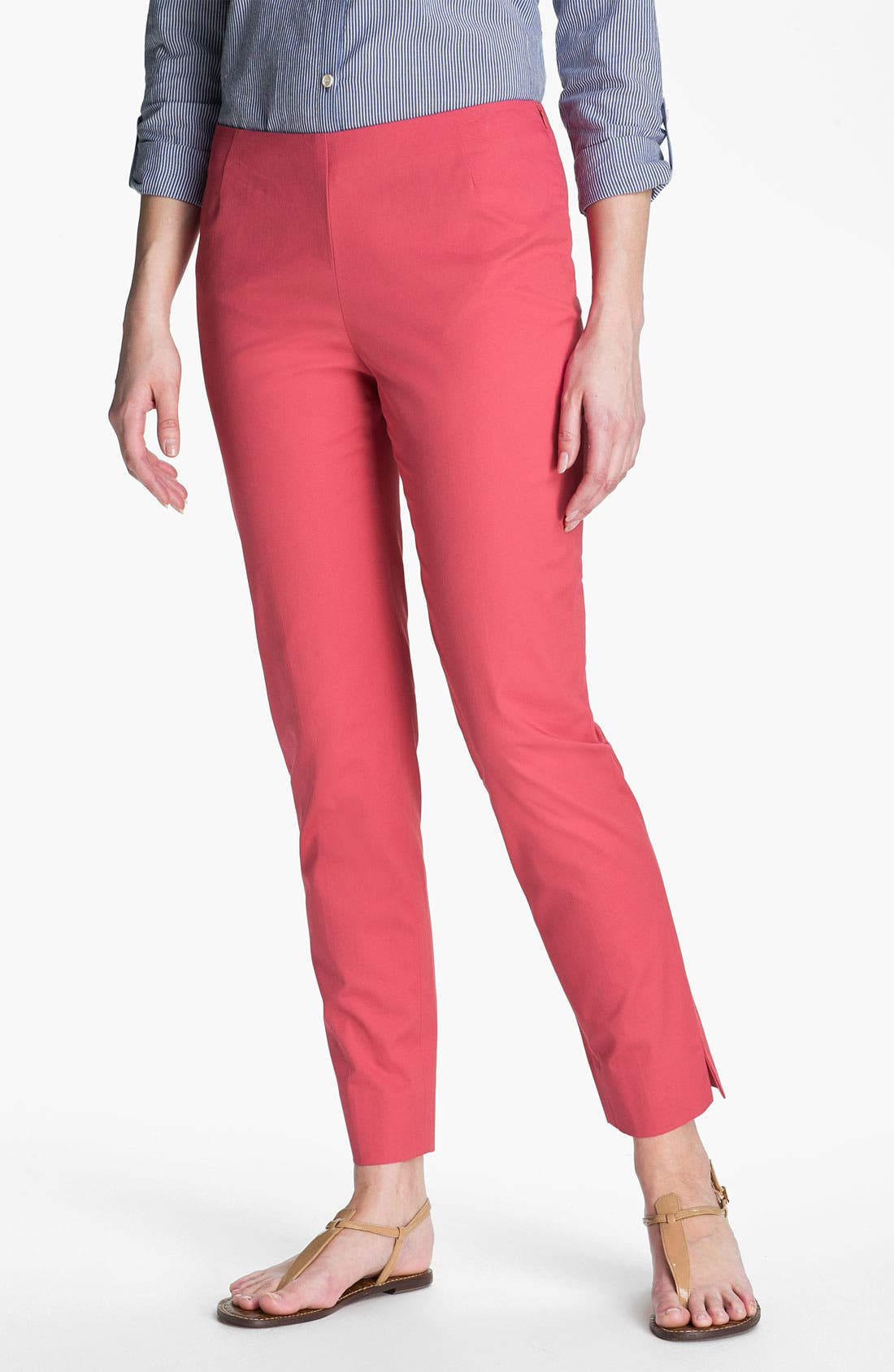 Alternate Image 1 Selected - Lafayette 148 New York Twill Ankle Pants