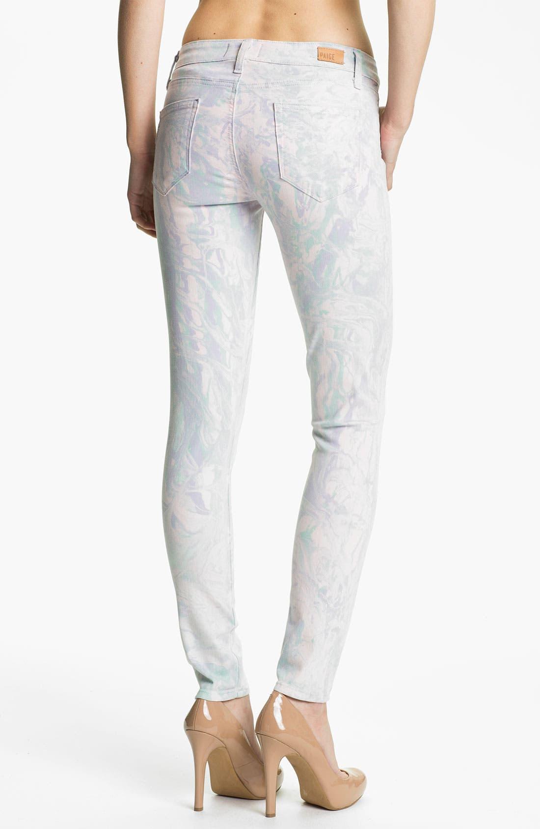 Alternate Image 2  - Paige Denim 'Verdugo' Print Skinny Jeans (Candy)