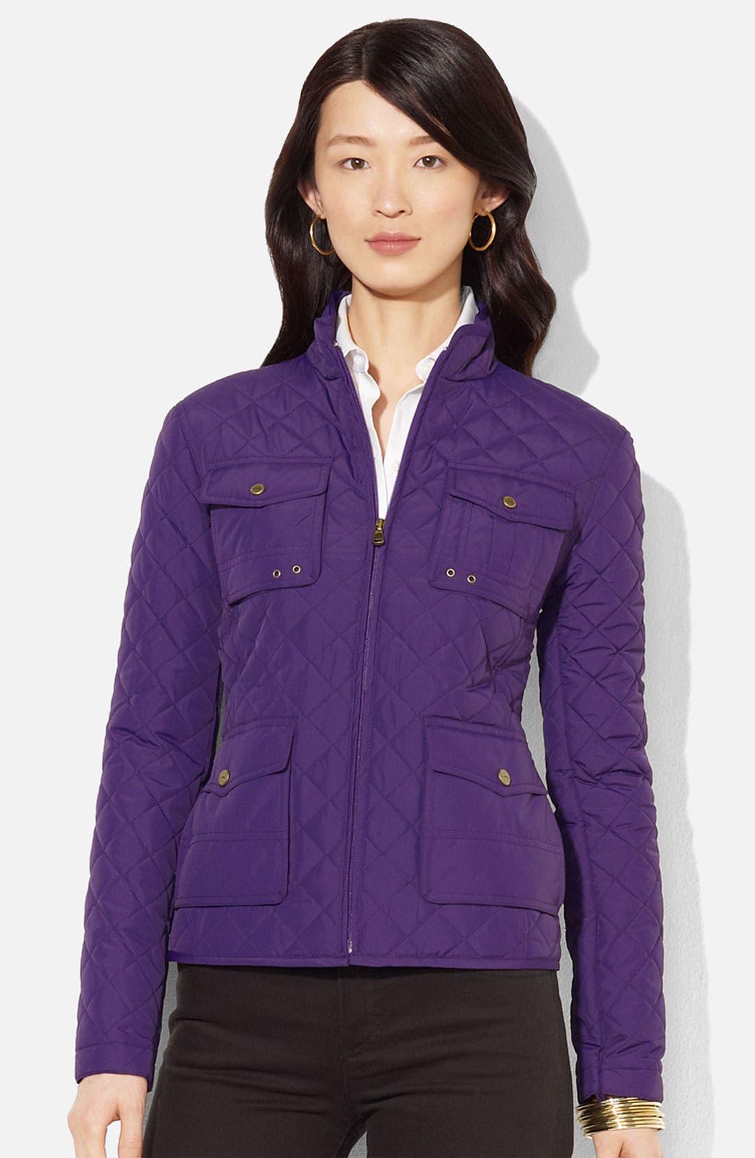 Main Image - Lauren Ralph Lauren Quilted Jacket (Petite)