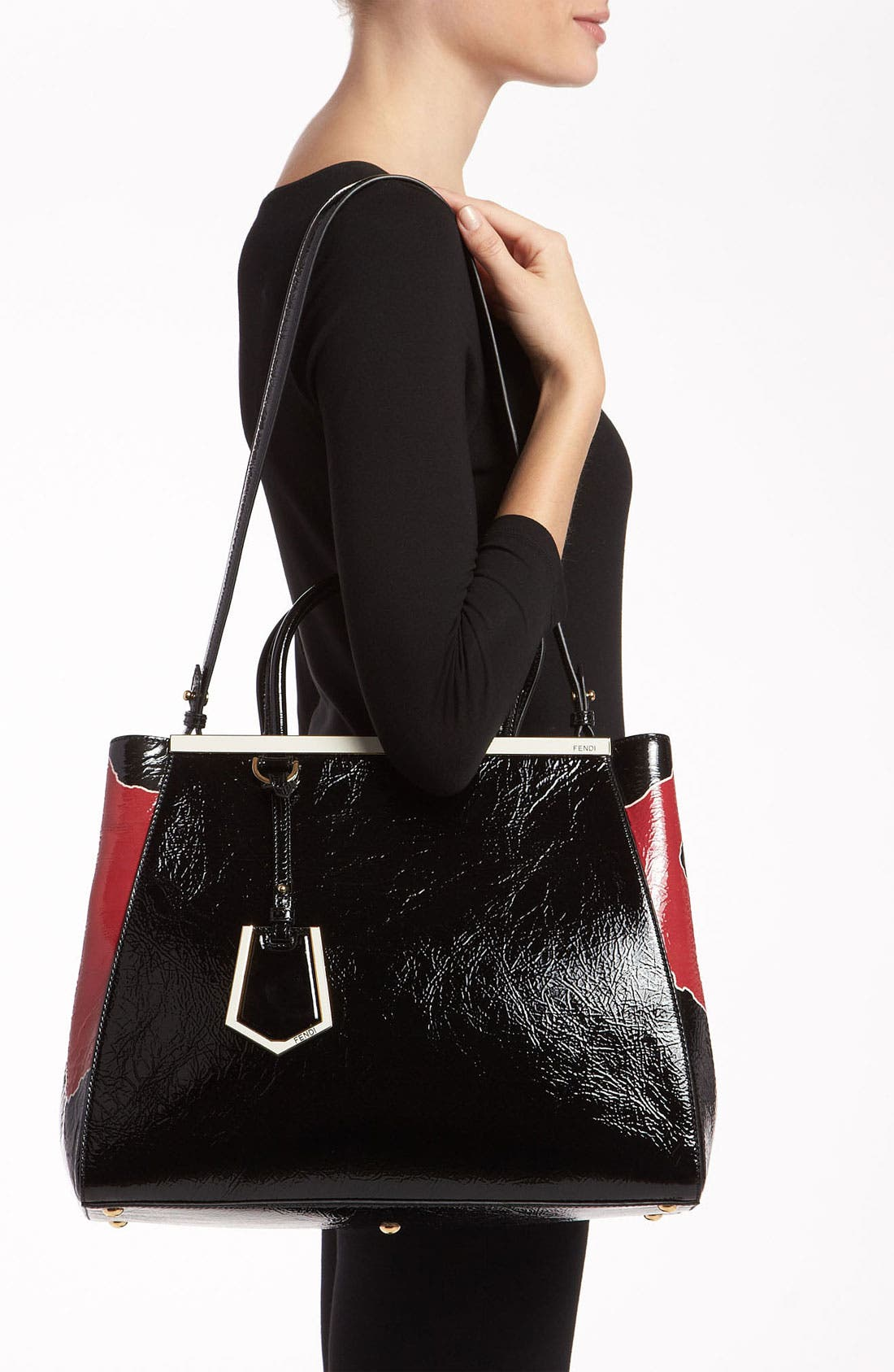 Alternate Image 2  - Fendi '2Jours - Medium' Patent Leather Shopper