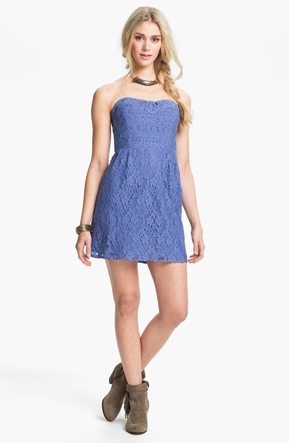 Main Image - Free People 'Heart' Strapless Lace Dress