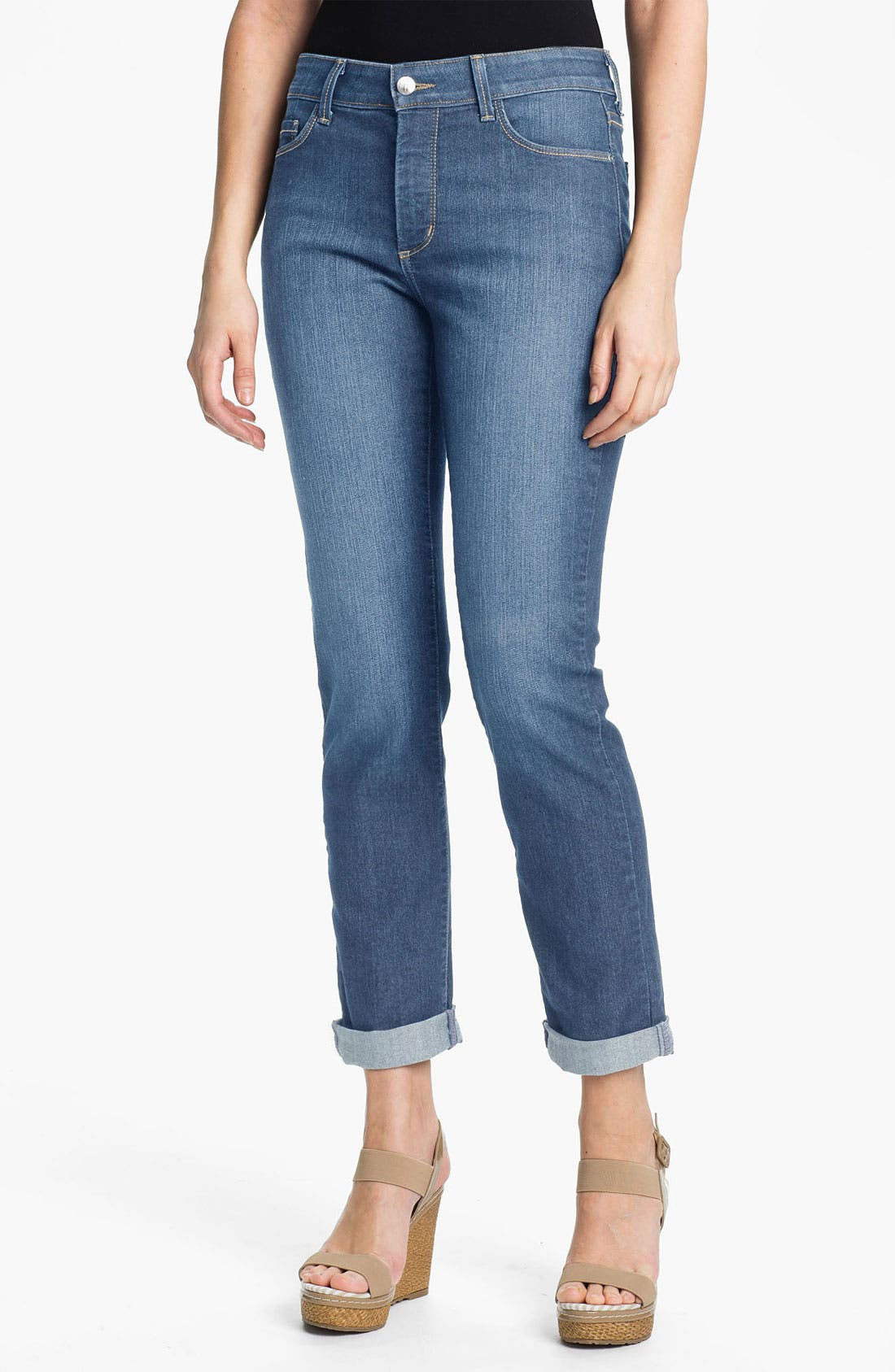 Alternate Image 1 Selected - NYDJ 'Tanya' Cuffed Stretch Boyfriend Jeans