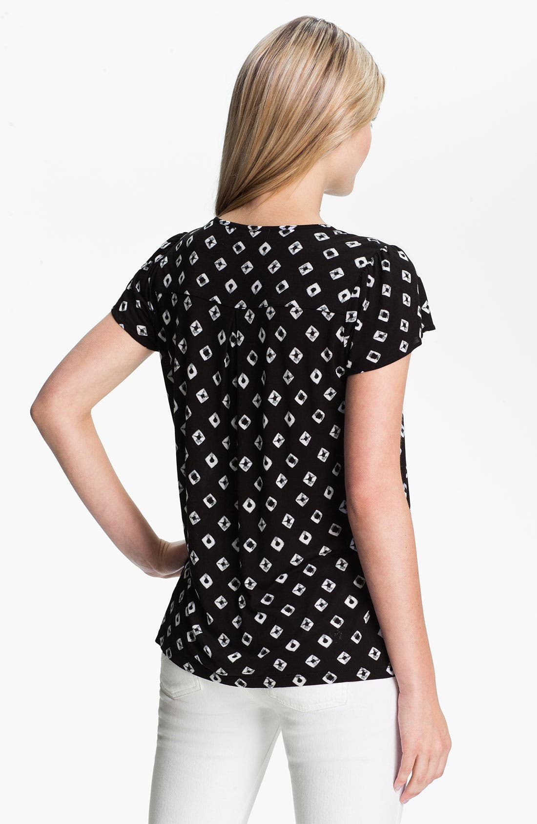 Alternate Image 2  - MICHAEL Michael Kors 'Diamond' Print Flutter Sleeve Top