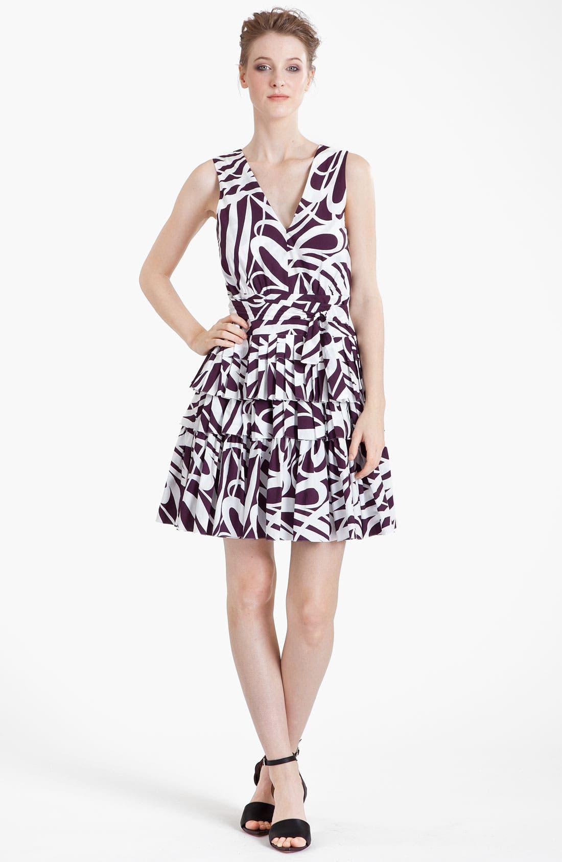 Main Image - Marni Swirl Print Ruffled Dress
