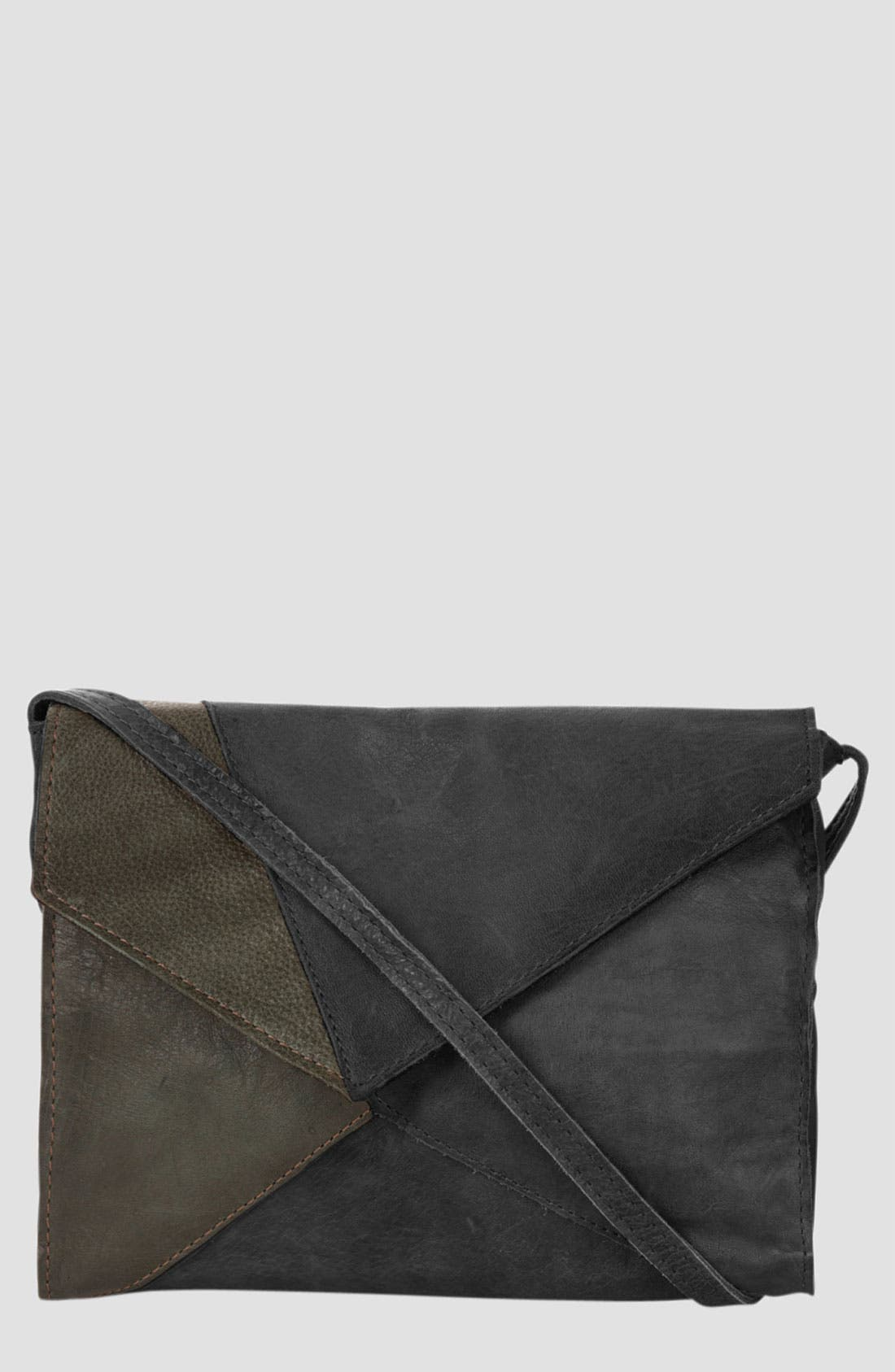 Alternate Image 1 Selected - Topshop Geometric Patch Crossbody Bag