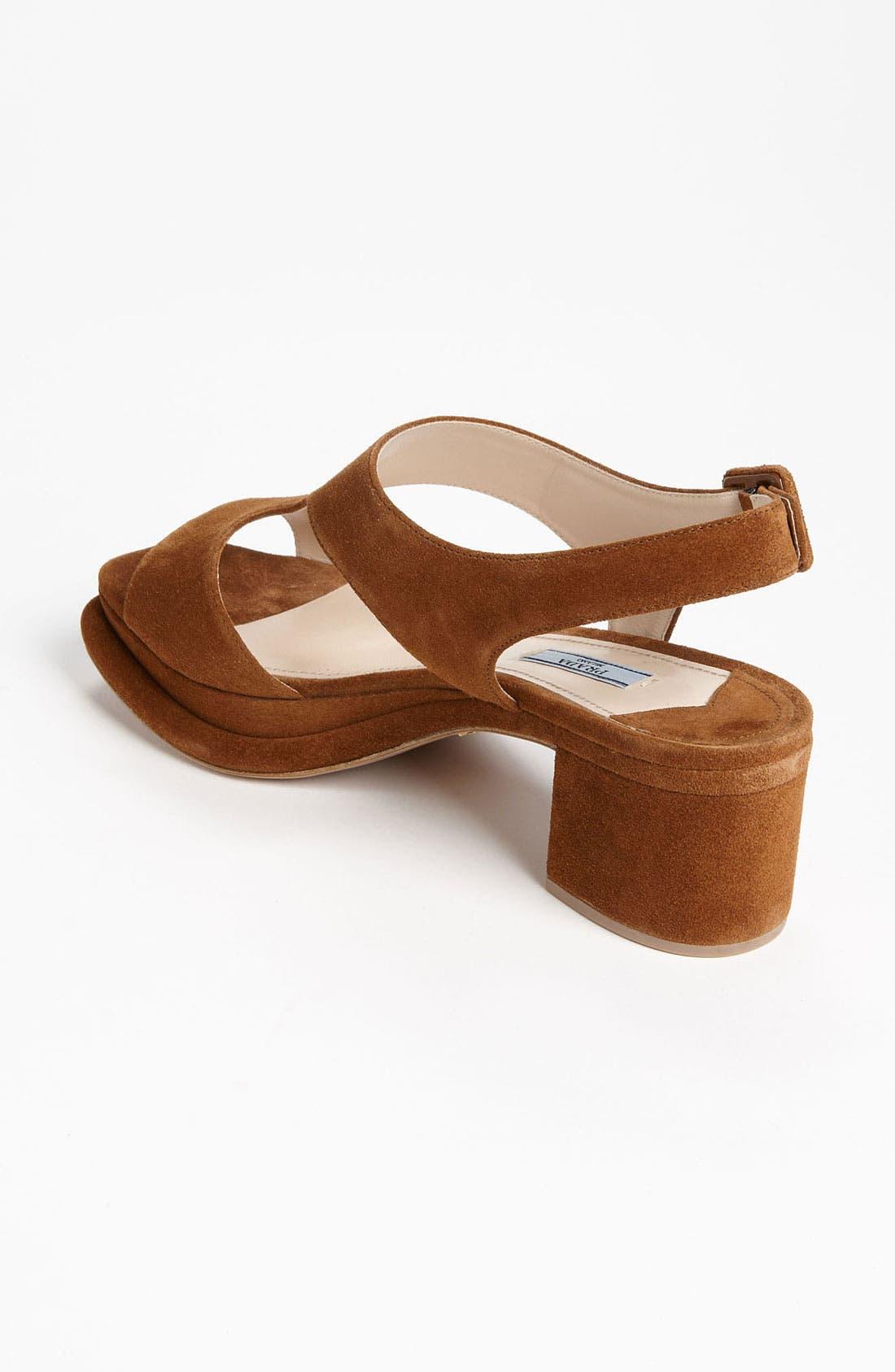 Alternate Image 2  - Prada Platform Block Heel Sandal