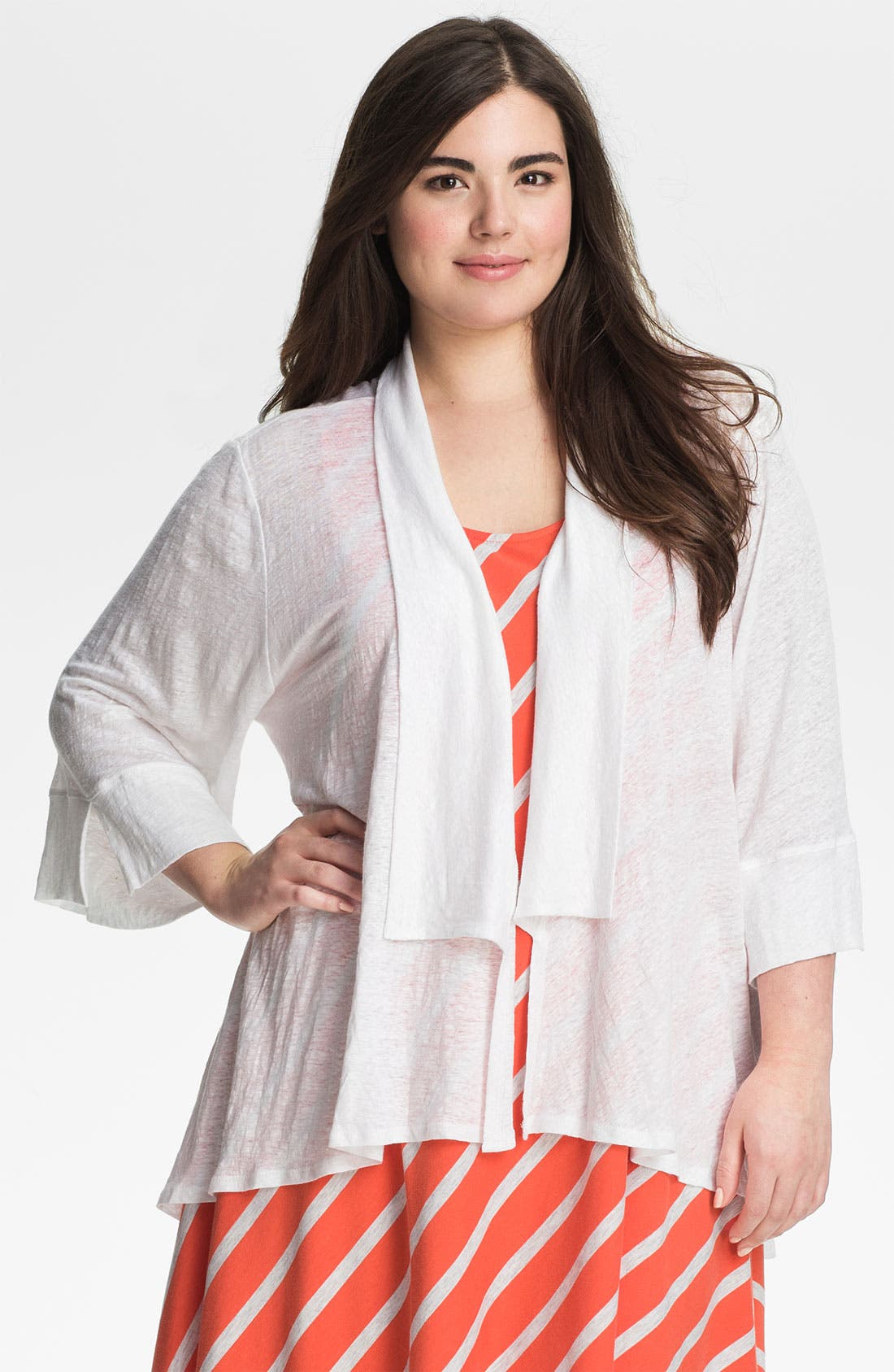 Alternate Image 1 Selected - Chalet 'Amelie' Bell Sleeve Cardigan (Plus)
