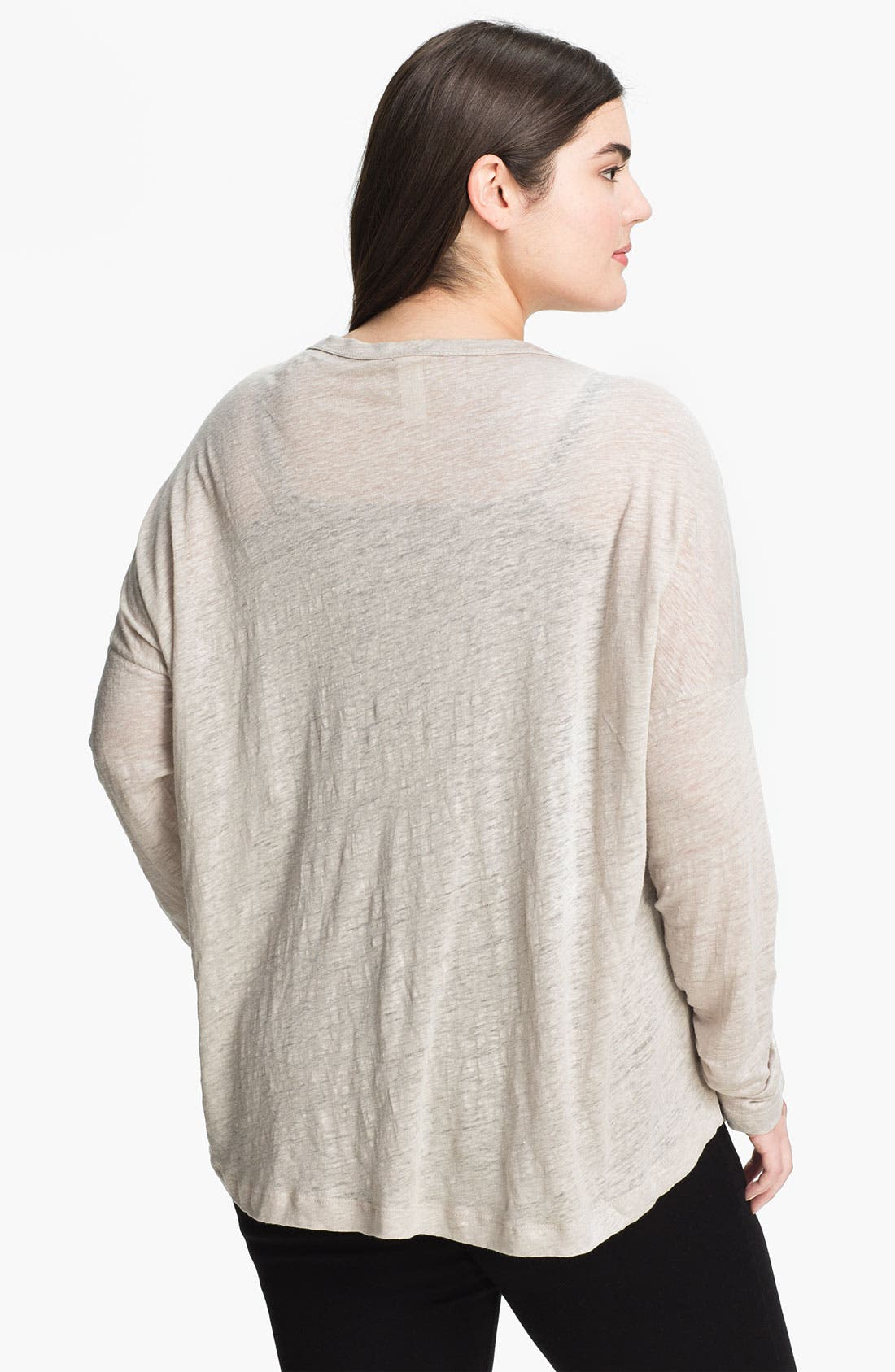 Alternate Image 2  - Chalet 'Lexi' Drop Shoulder Linen Cardigan (Plus)