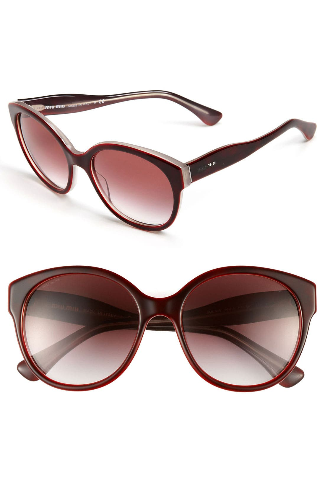 Alternate Image 1 Selected - Miu Miu Cat Eye Sunglasses