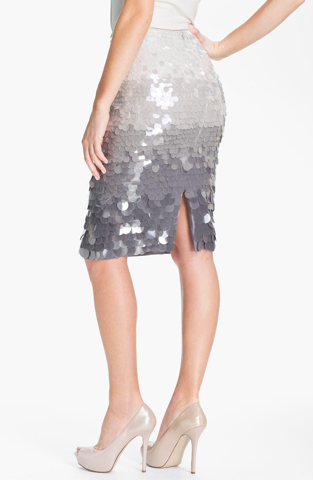 Alternate Image 2  - Lafayette 148 New York Paillette Silk Skirt