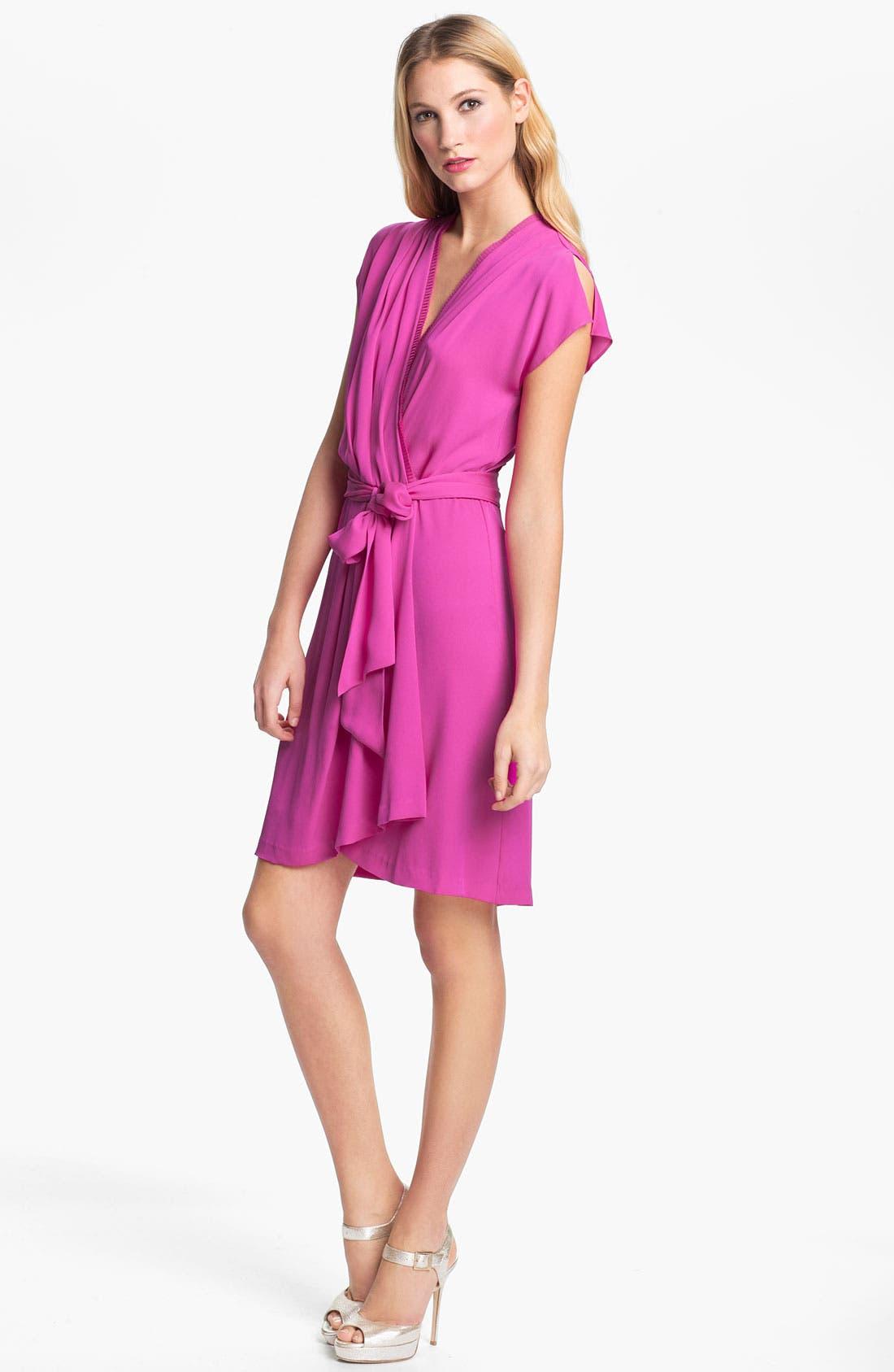 Alternate Image 1 Selected - Diane von Furstenberg 'Mateo' Stretch Silk Wrap Dress