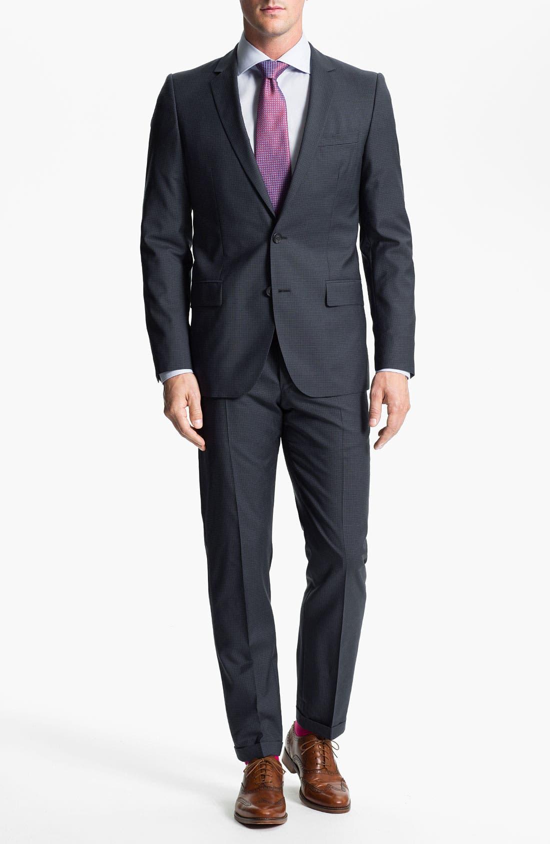 Alternate Image 2  - HUGO 'Amaro/Heise' Trim Fit Suit