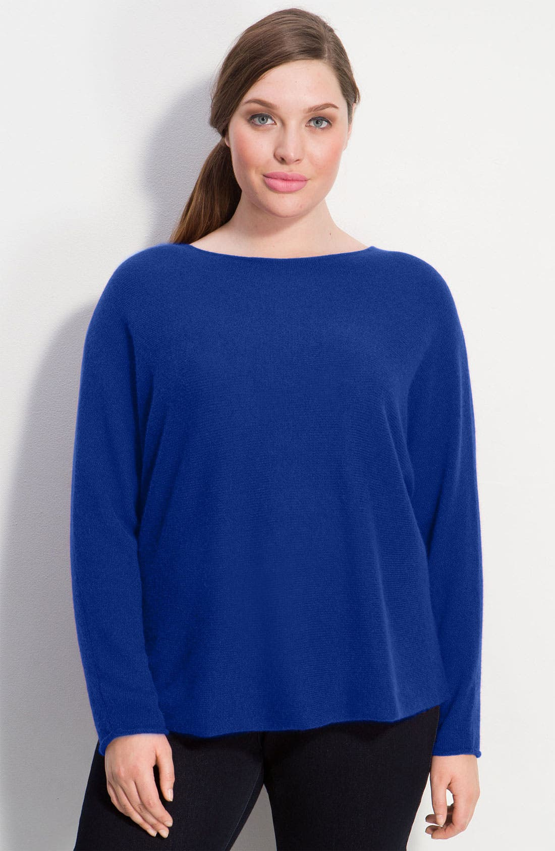 Alternate Image 1 Selected - Only Mine Cashmere Dolman Sleeve Sweater (Plus)