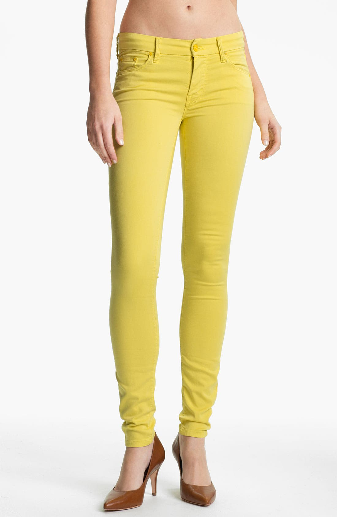 Alternate Image 1 Selected - MOTHER 'The Looker' Skinny Stretch Jeans (Starfruit)