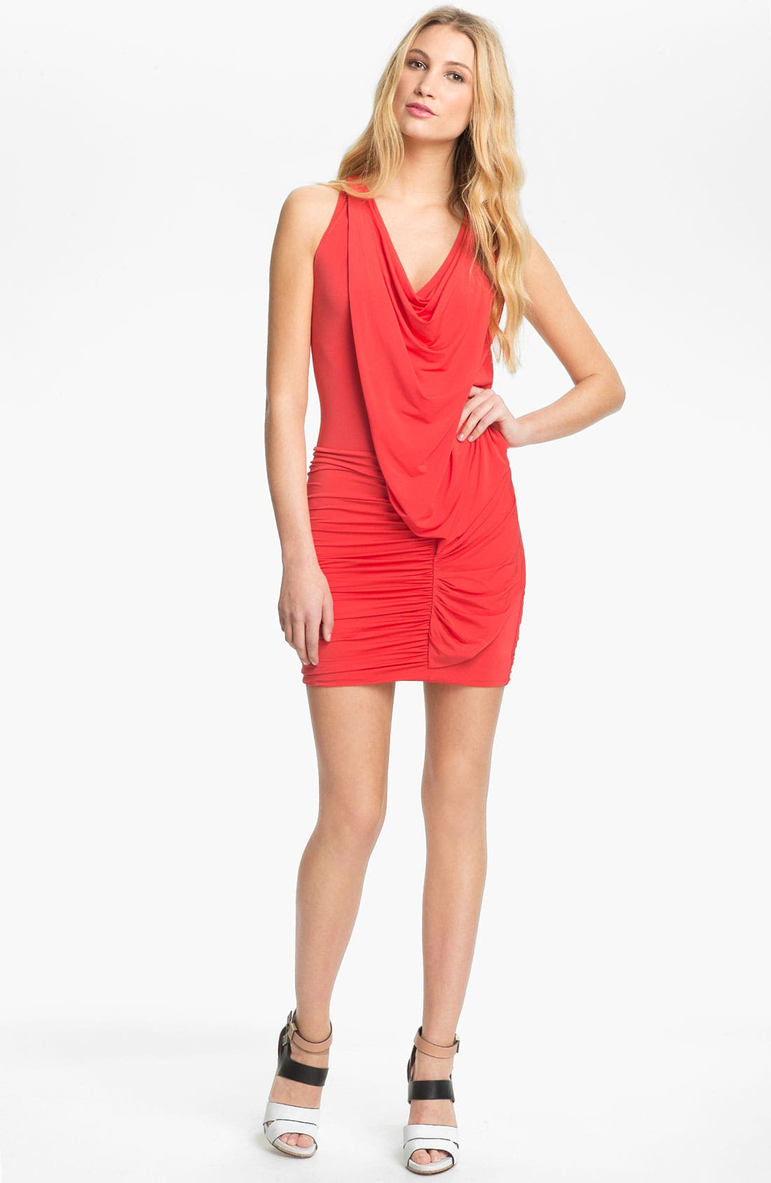 Alternate Image 1 Selected - BCBGMAXAZRIA Racerback Ruched Jersey Minidress