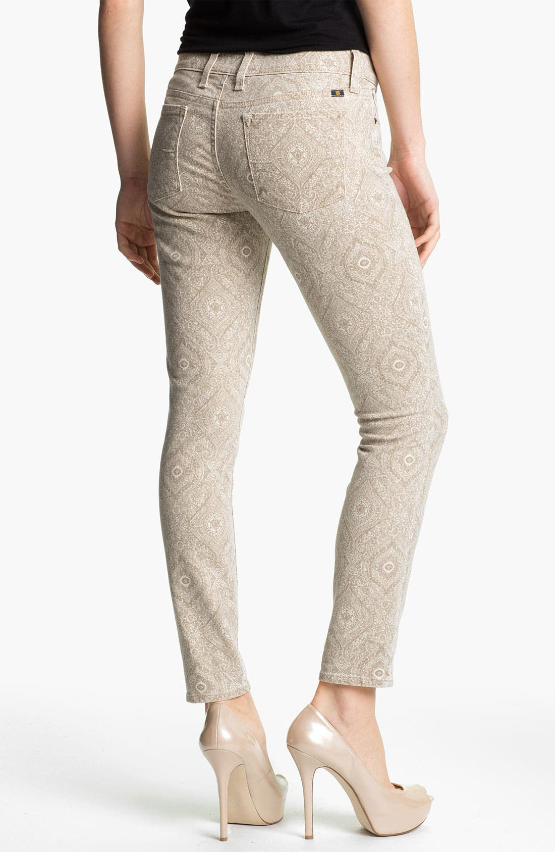 Alternate Image 2  - Lucky Brand 'Charlie' Print Skinny Jeans (Online Exclusive)