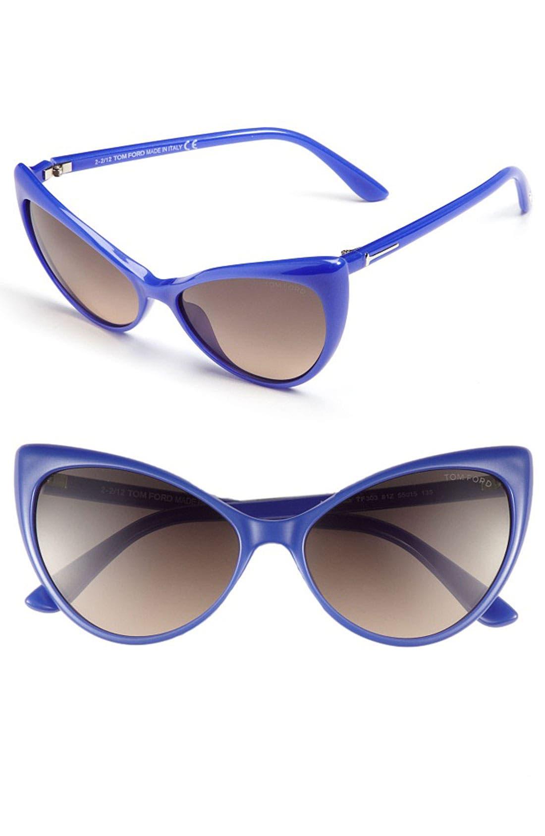 Alternate Image 1 Selected - Tom Ford 'Anastasia' 55mm Retro Sunglasses
