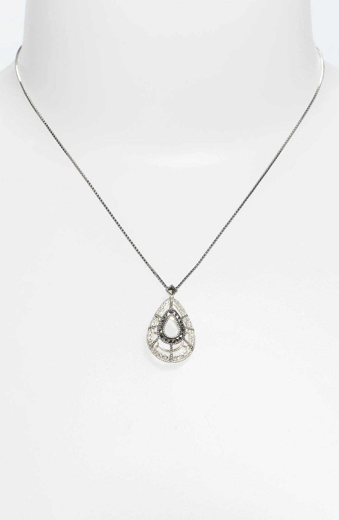 Alternate Image 1 Selected - Judith Jack 'Caged In' Teardrop Pendant Necklace