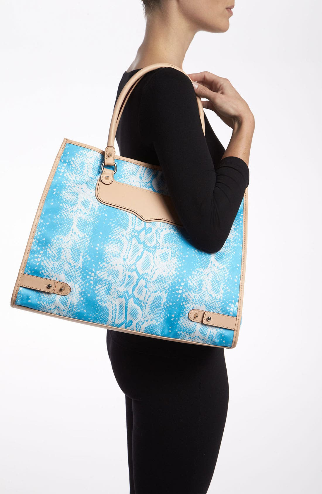 Alternate Image 2  - Rebecca Minkoff 'Diamond' Snakeskin Print Tote