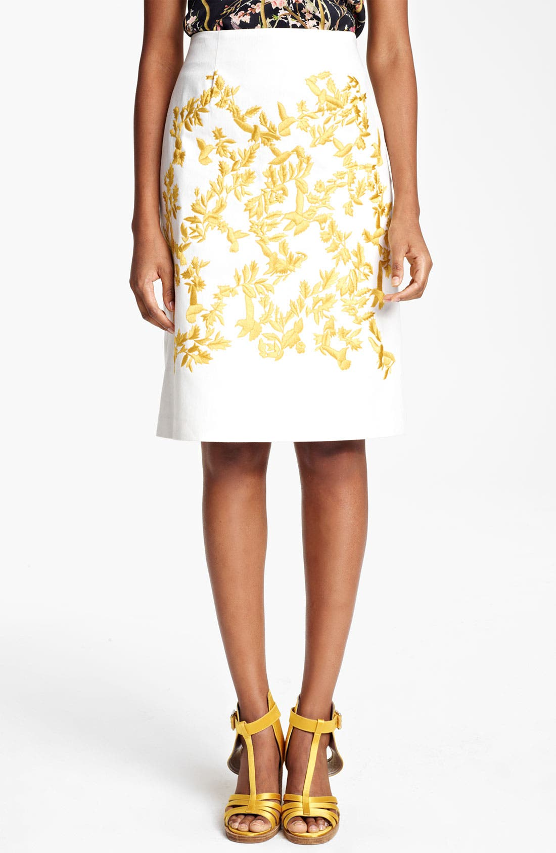 Main Image - Thakoon Embroidered A-Line Skirt