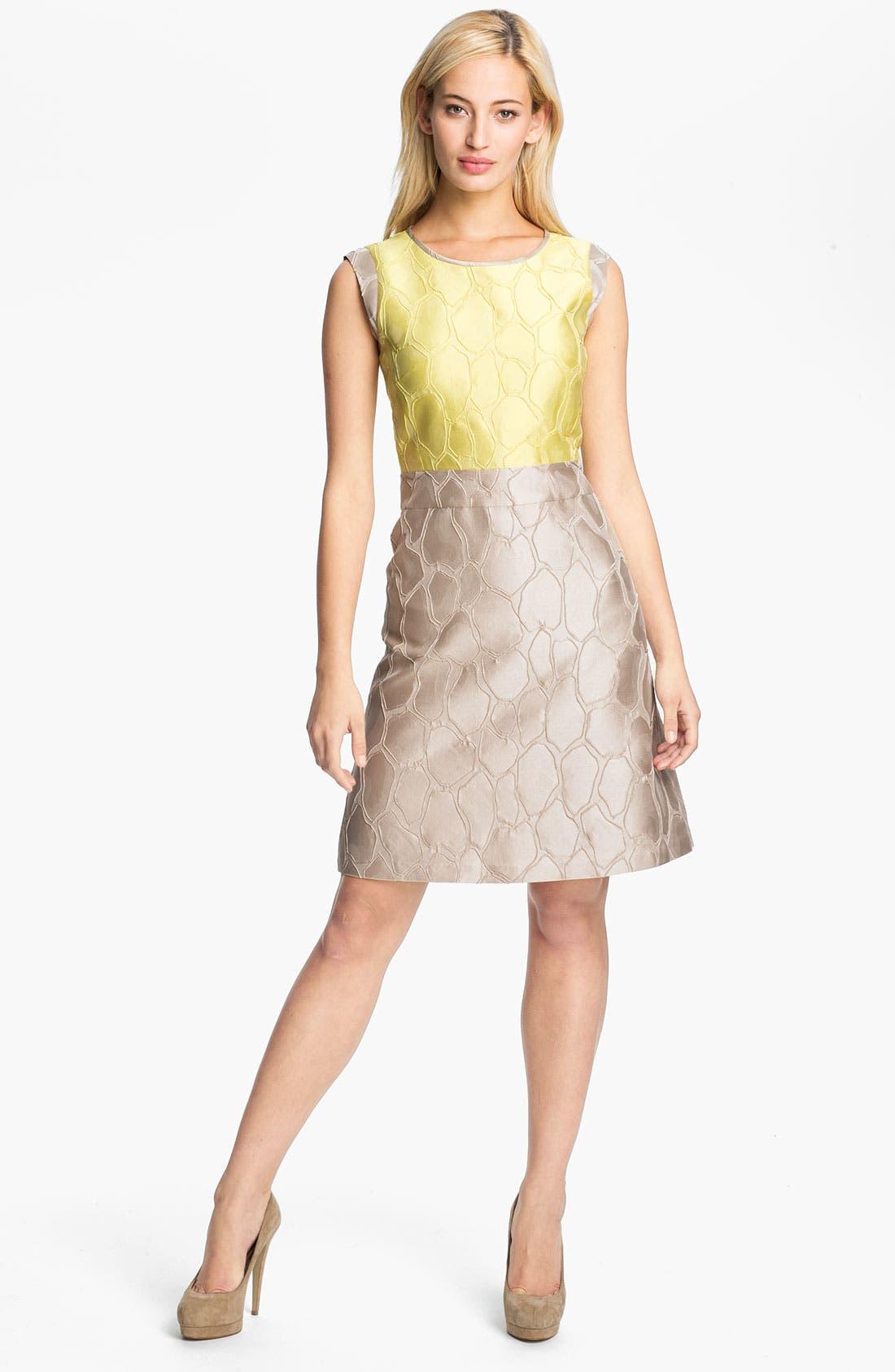 Alternate Image 1 Selected - Lafayette 148 New York 'Elle' Giraffe Jacquard Dress