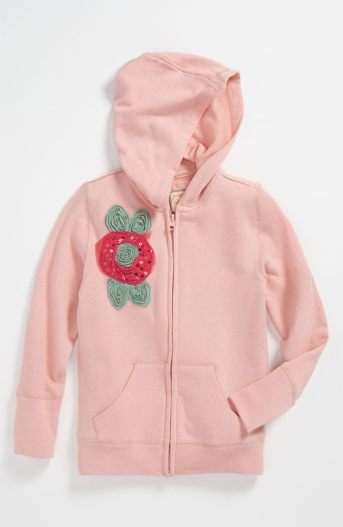 Alternate Image 1 Selected - Penny Candy 'Happy' Hoodie (Little Girls & Big Girls)