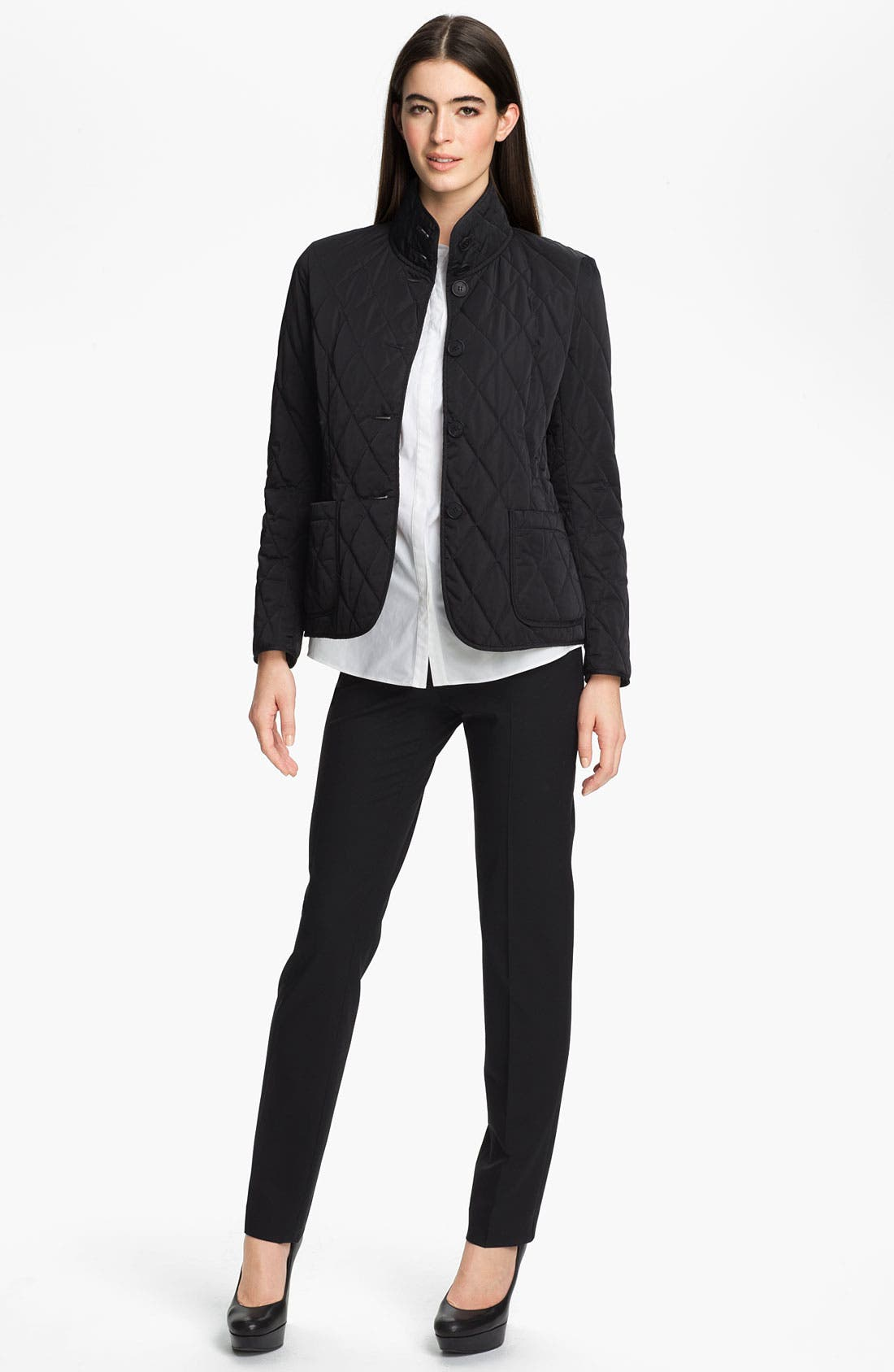 Alternate Image 4  - Lafayette 148 New York Stand Collar Quilted Jacket