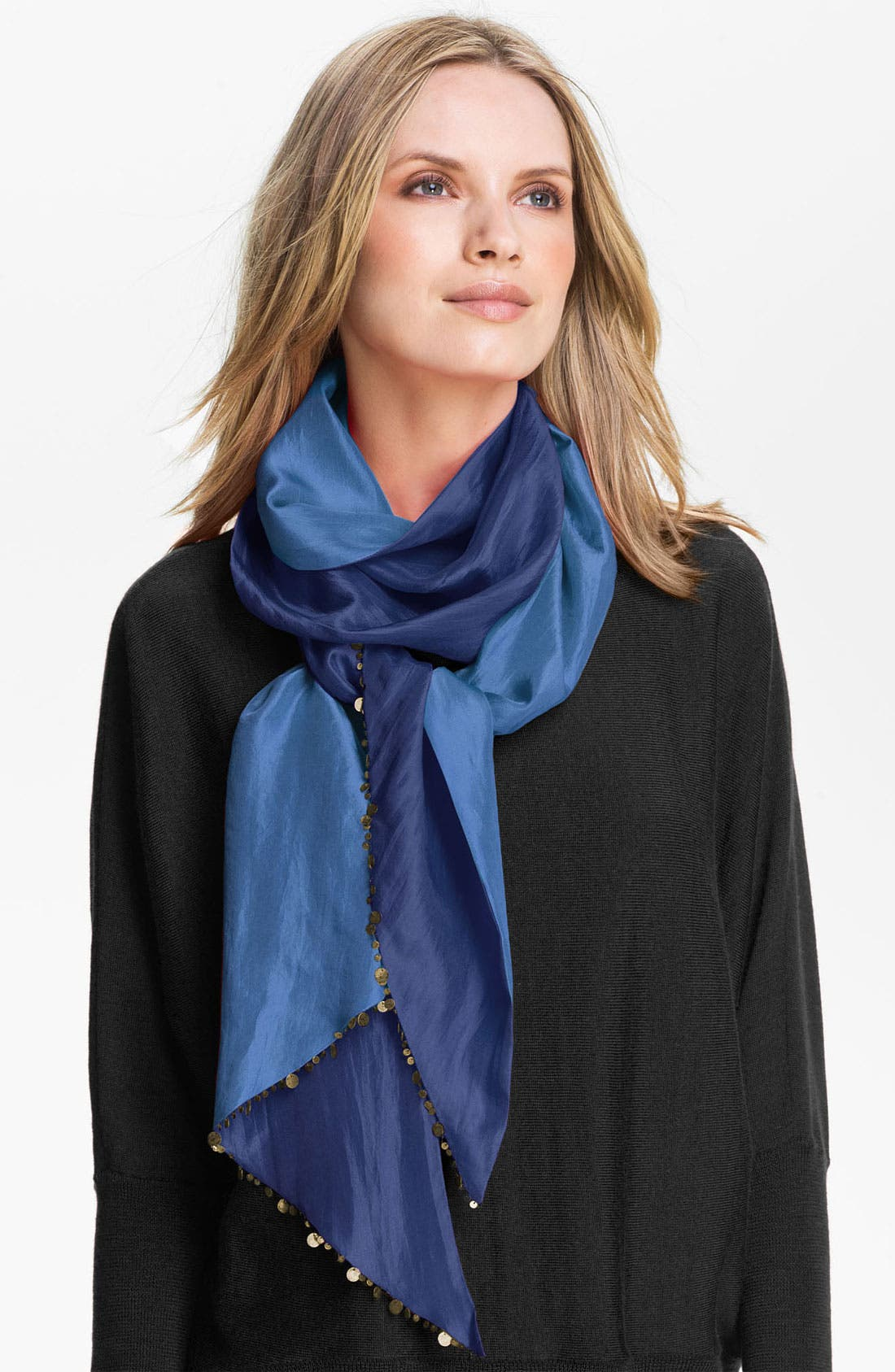 Alternate Image 1 Selected - Eileen Fisher 'Parallelogram' Silk Scarf (Online Exclusive)