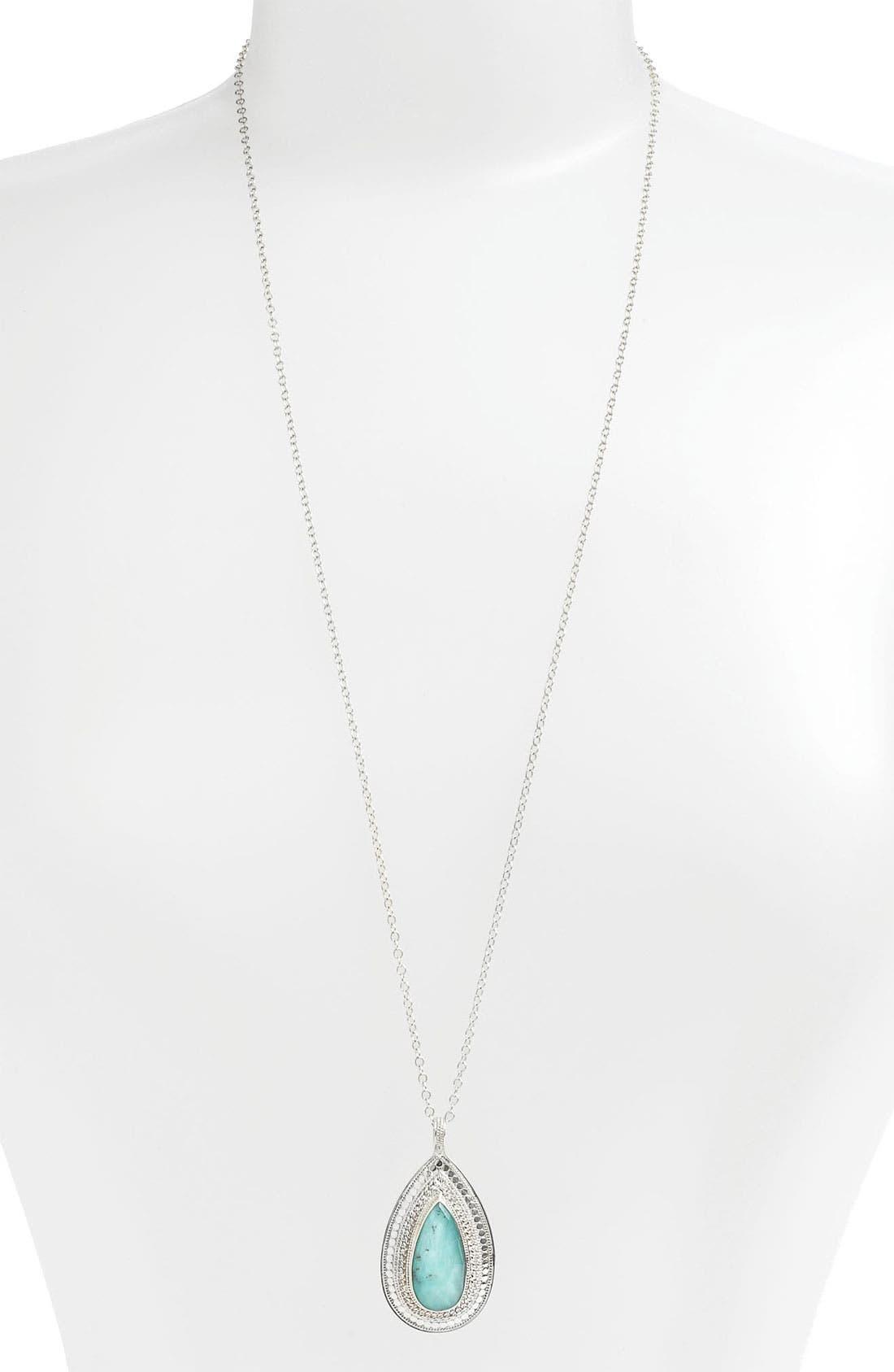 Alternate Image 1 Selected - Anna Beck 'Gili' Teardrop Pendant Necklace