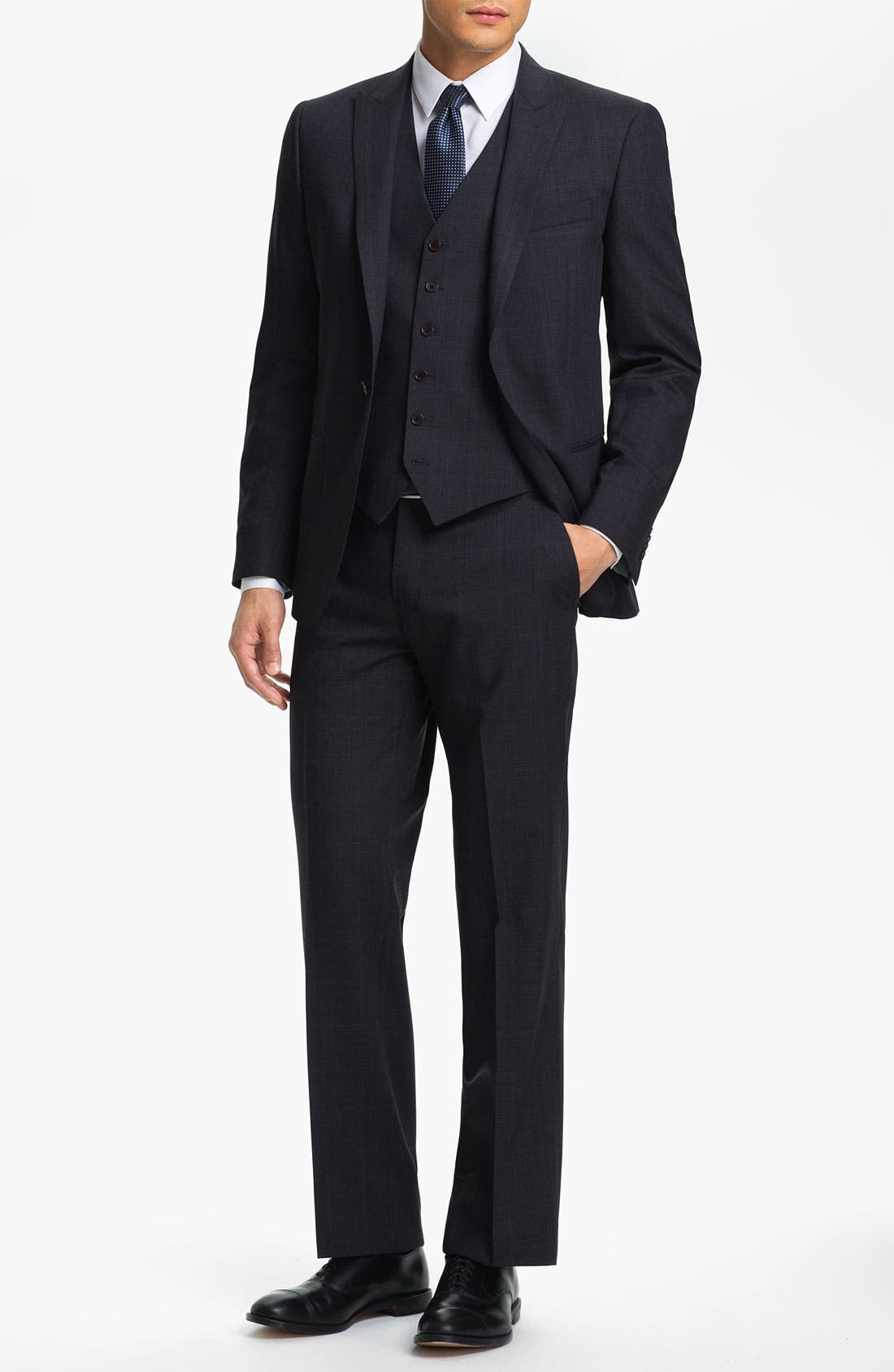 Alternate Image 2  - John Varvatos Star USA 'Irving' Trim Fit Three Piece Suit