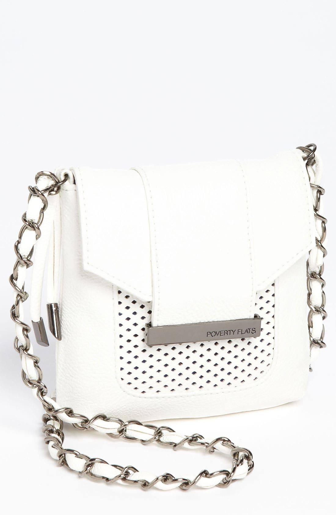 Alternate Image 1 Selected - POVERTY FLATS by rian 'Mesh Detail - Mini' Crossbody Bag