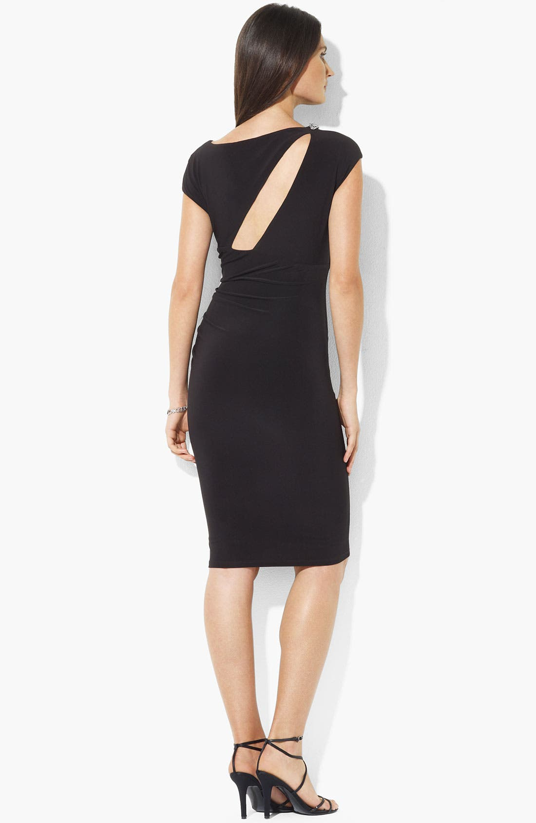 Alternate Image 2  - Lauren Ralph Lauren Cutout Detail Embellished Sheath Dress