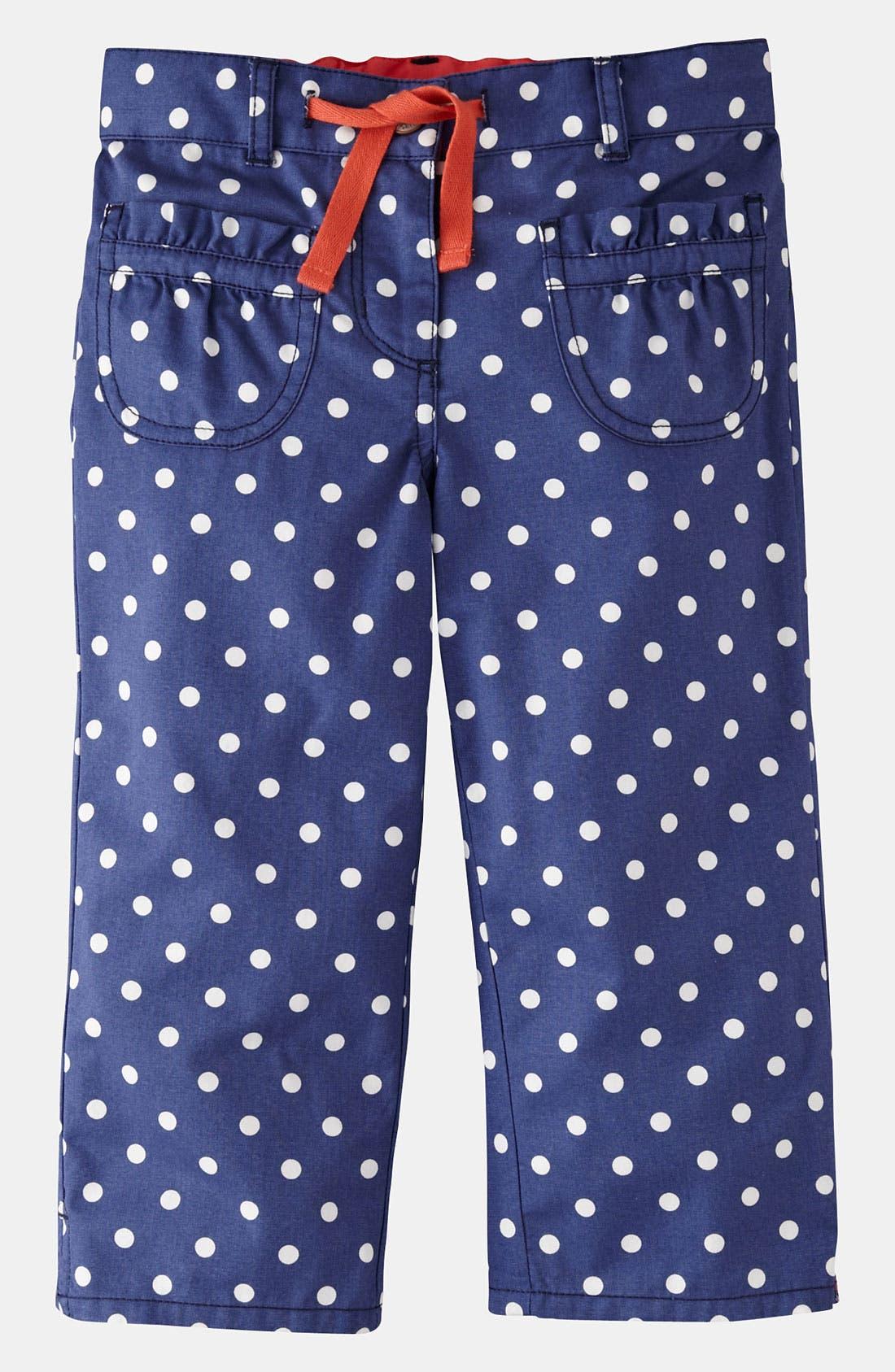 Main Image - Mini Boden Print Capri Pants (Little Girls & Big Girls)