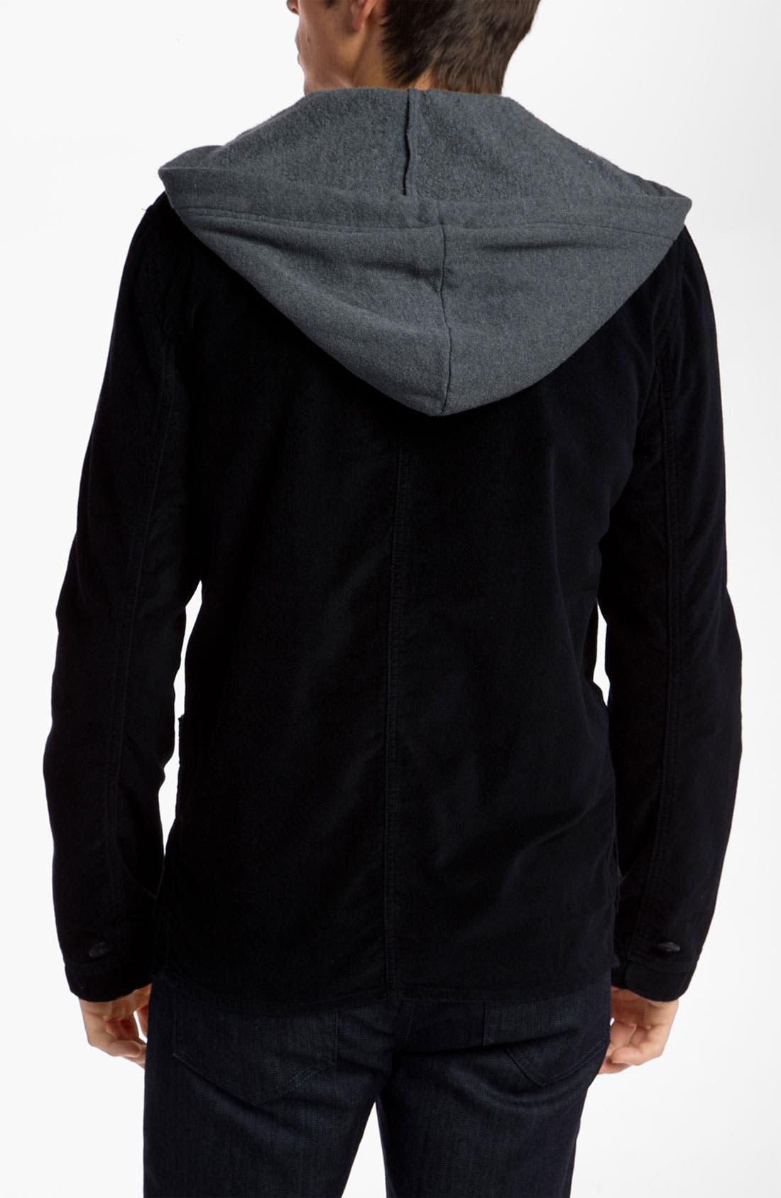 Alternate Image 2  - Alternative 'Bridgeport' Hooded Blazer Style Jacket