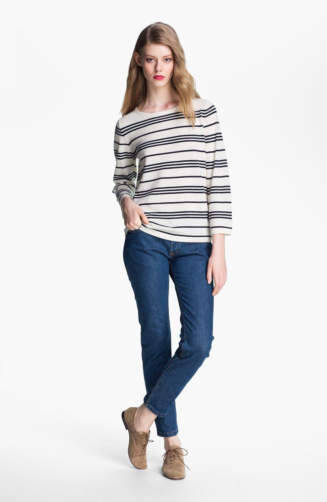 Alternate Image 2  - A.P.C. Marinière Stripe Wool Sweater