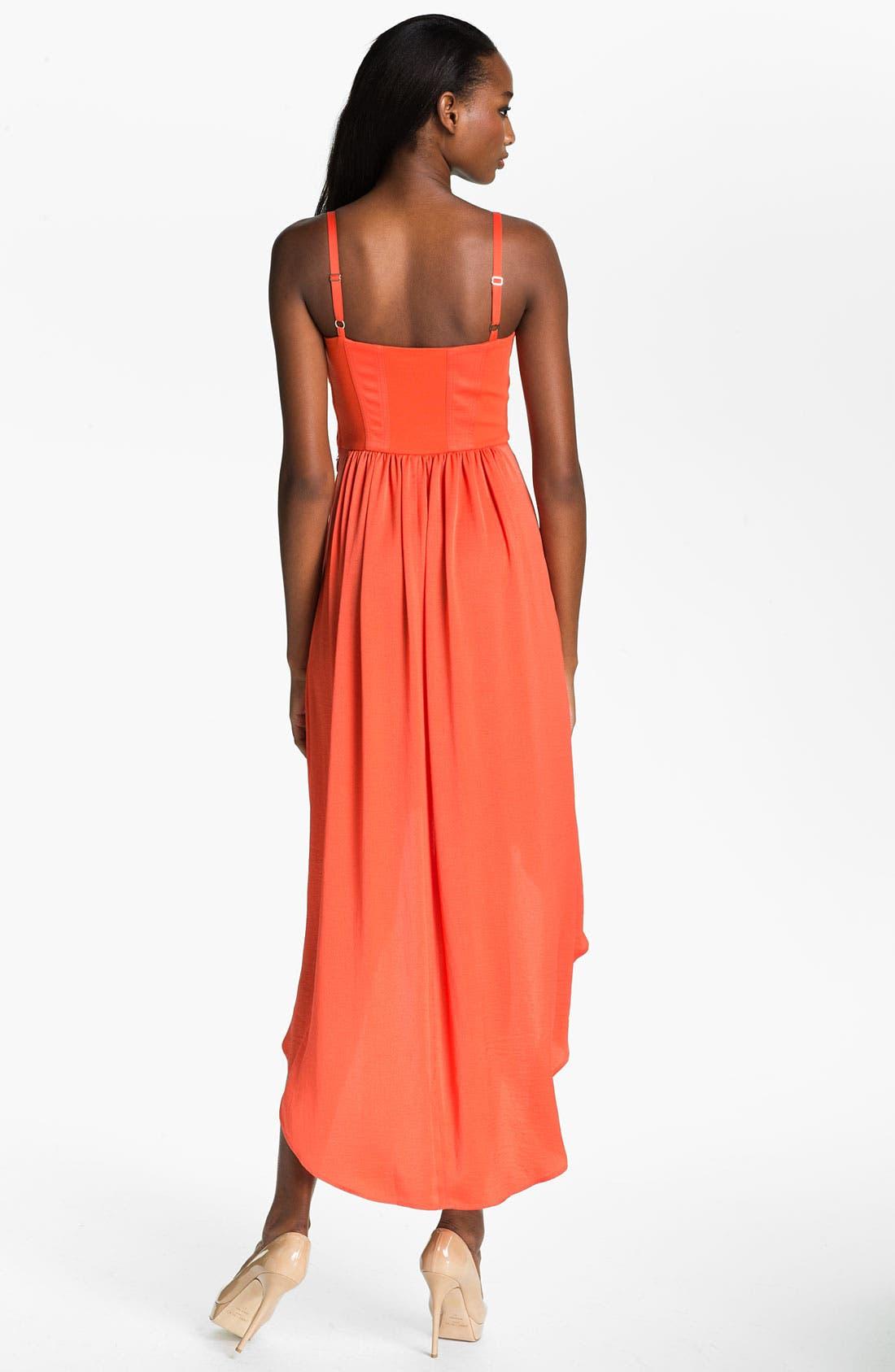 Alternate Image 2  - BCBGMAXAZRIA High/Low Maxi Dress