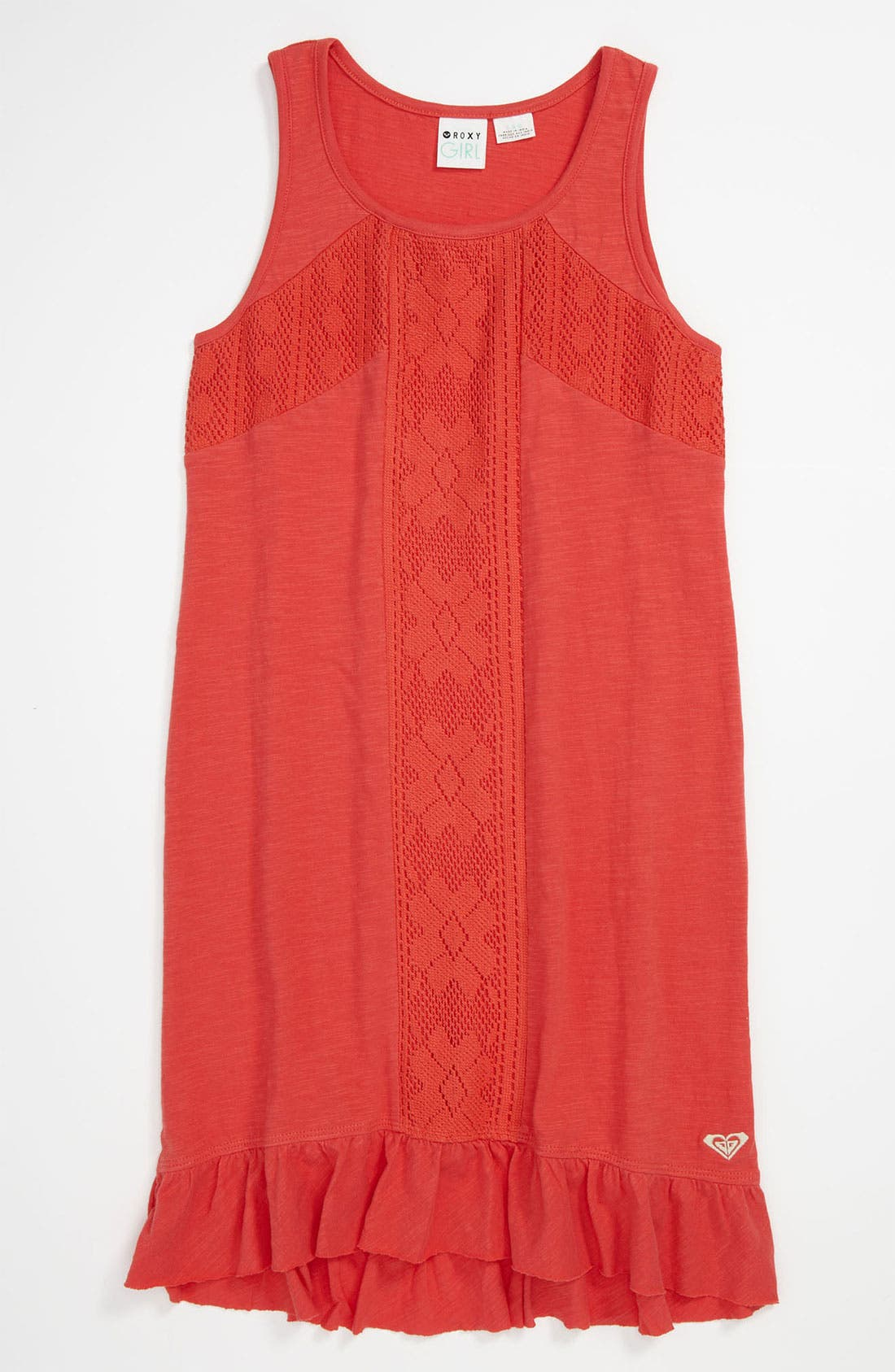 Alternate Image 1 Selected - Crochet Inset Tank Dress (Big Girls)