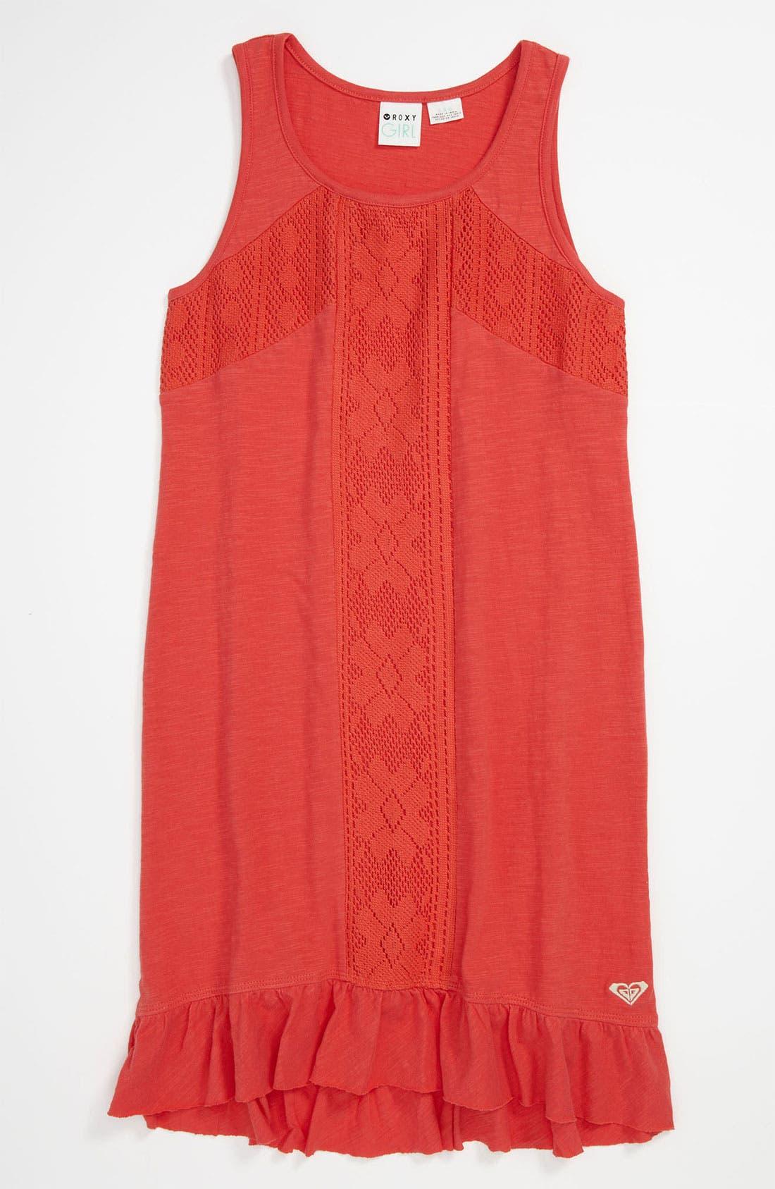 Main Image - Crochet Inset Tank Dress (Big Girls)