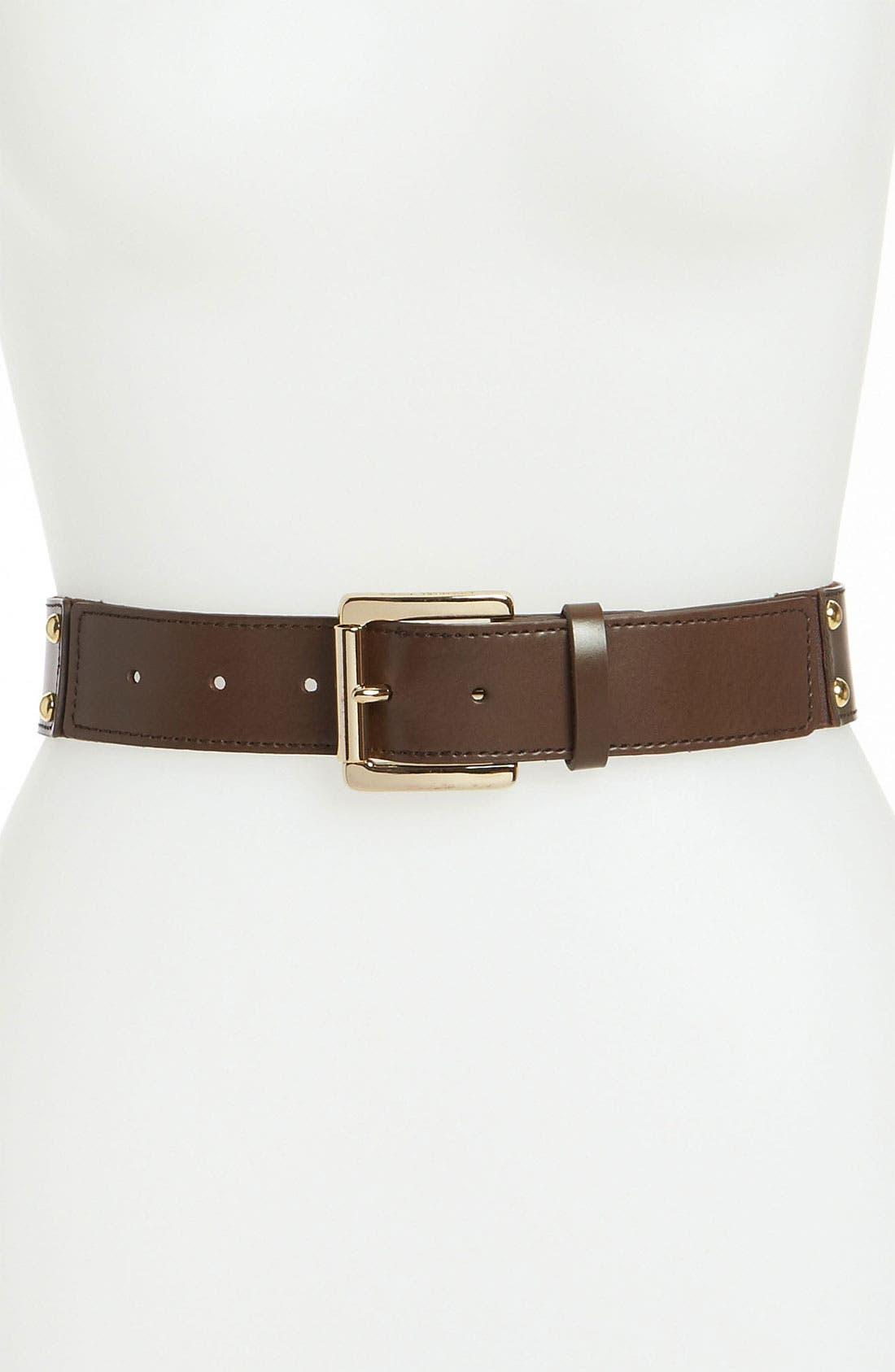 Main Image - MICHAEL Michael Kors Studded Stretch Belt