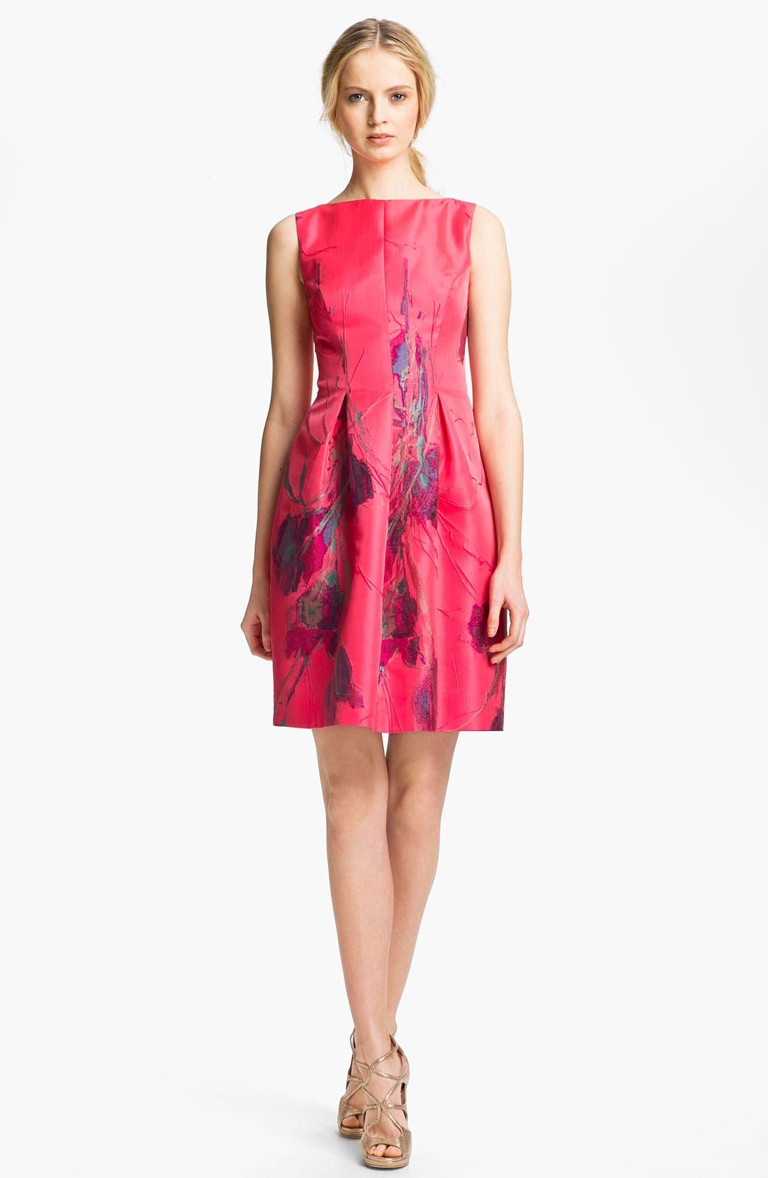 Main Image - Lela Rose Boatneck Dress
