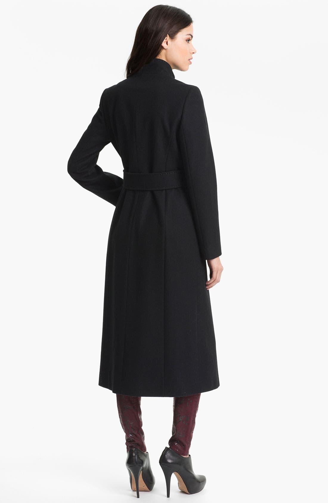 Alternate Image 2  - Via Spiga 'Maria' Tab Trim Coat (Nordstrom Exclusive)