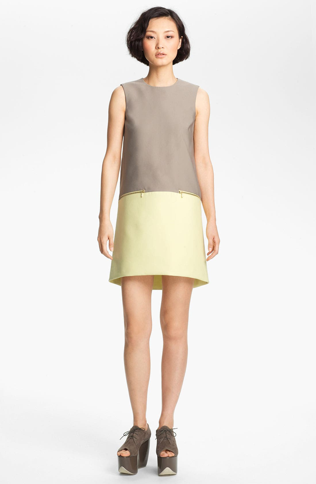 Main Image - Victoria, Victoria Beckham 'Dry Scrunch' Shift Dress