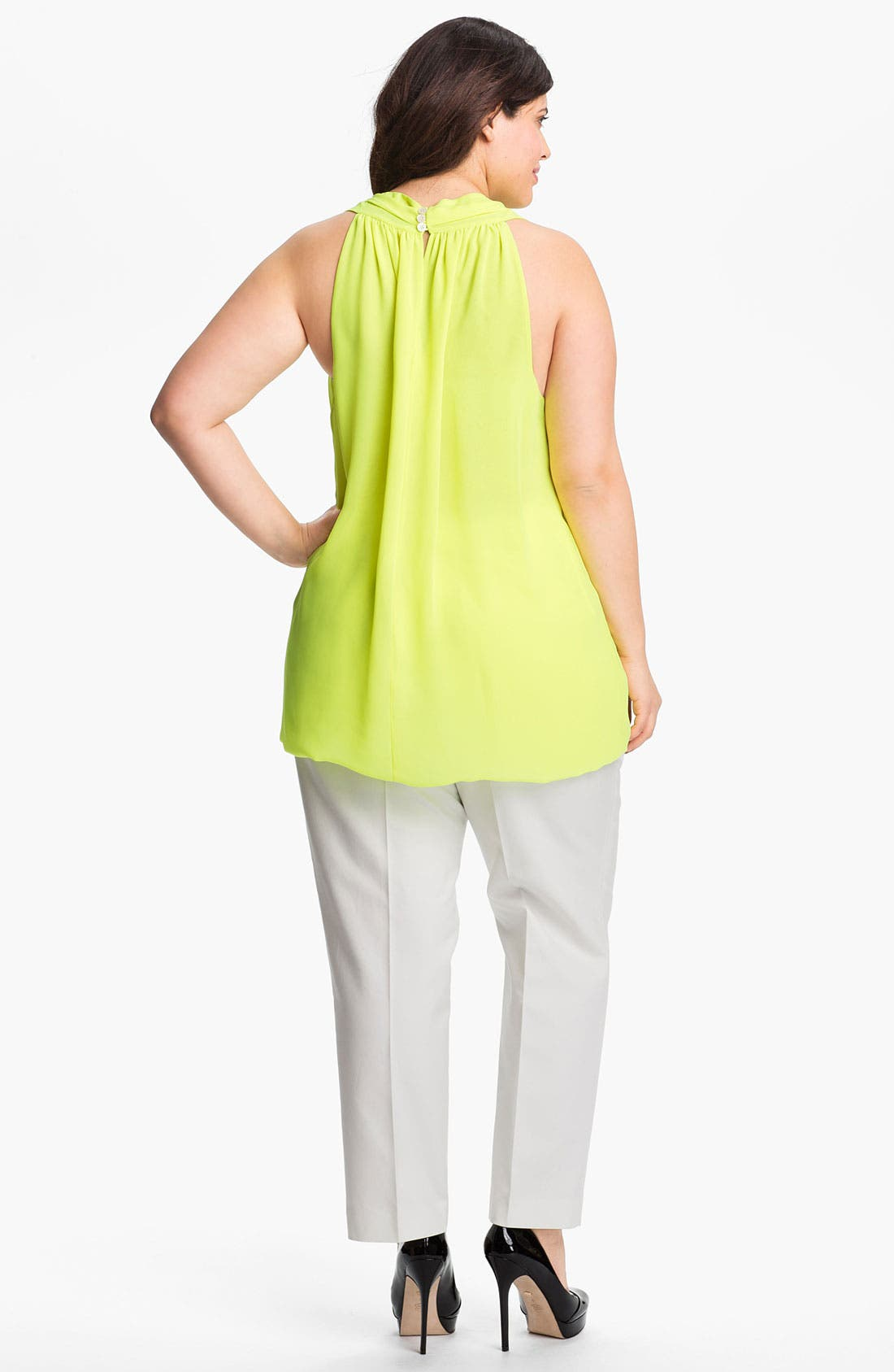 Alternate Image 5  - Vince Camuto Sleeveless V-Neck Blouse (Plus Size)