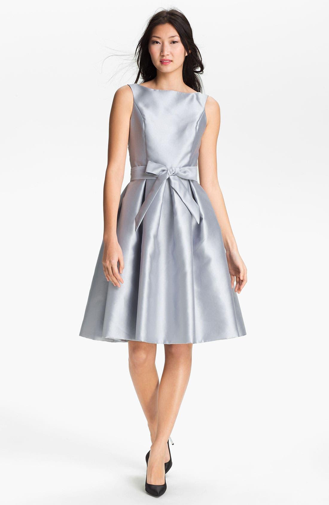 Alternate Image 1 Selected - Isaac Mizrahi New York Satin Fit & Flare Dress