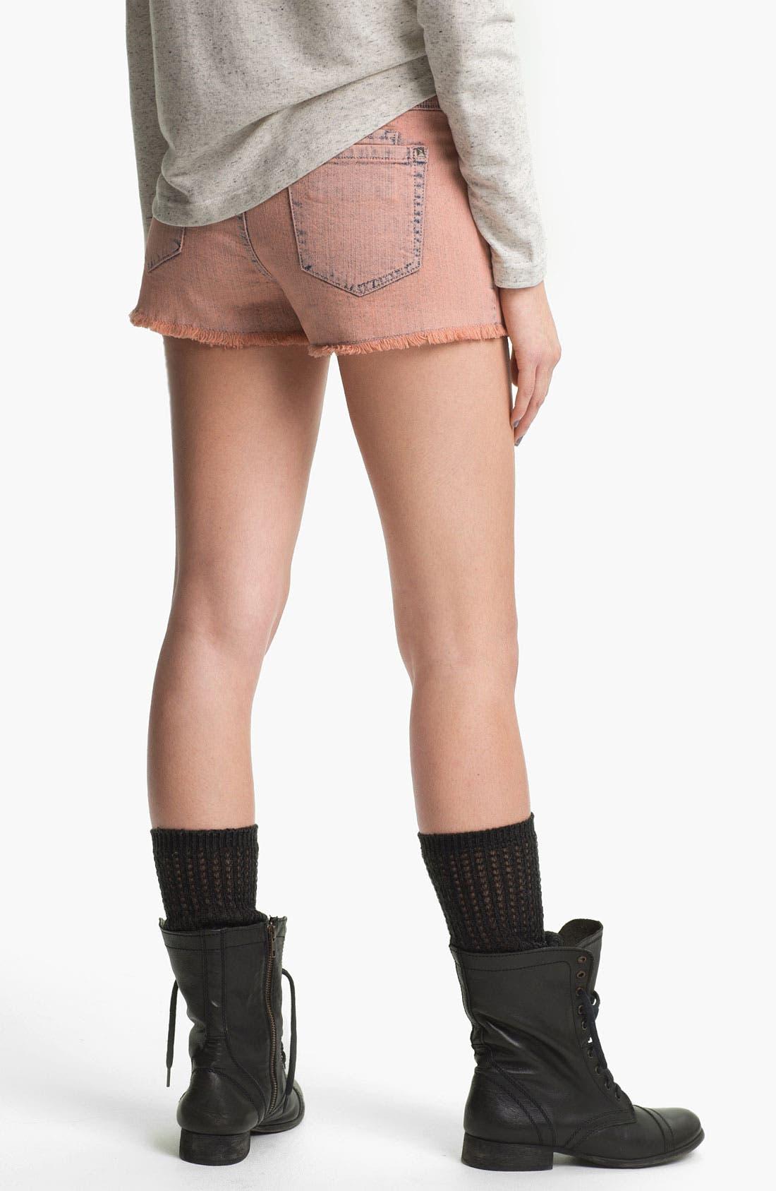 Alternate Image 2  - Jolt Studded High Waist Cutoff Shorts (Juniors)