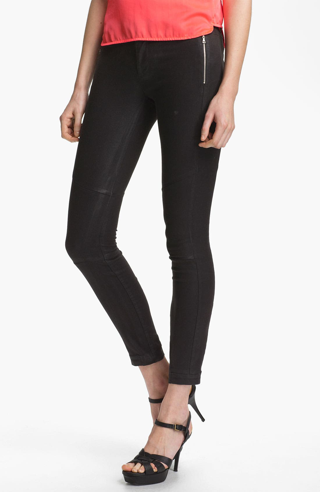 Alternate Image 1 Selected - J Brand Ready-to-Wear 'Angela' Coated Cotton Pants