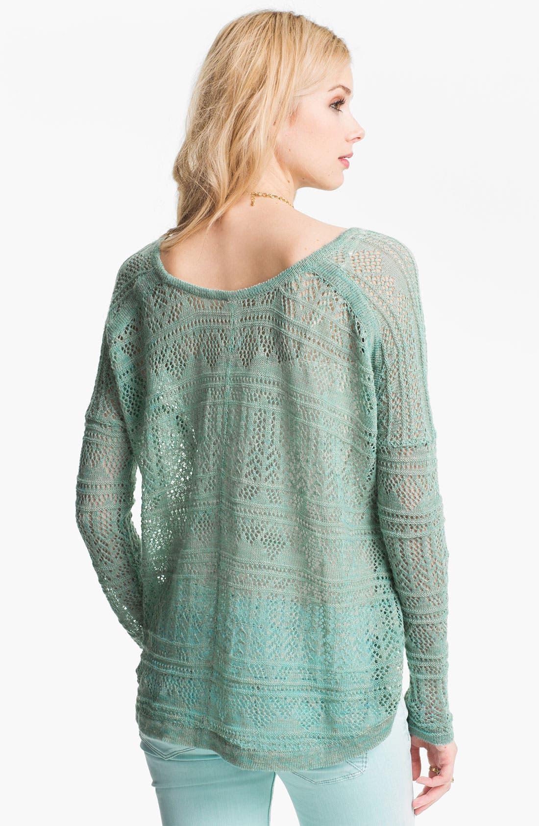Alternate Image 2  - Free People 'Waterfalls' Crochet Sweater