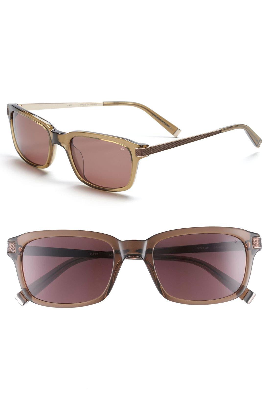Main Image - John Varvatos Collection 'Modern' 52mm Aviator Sunglasses