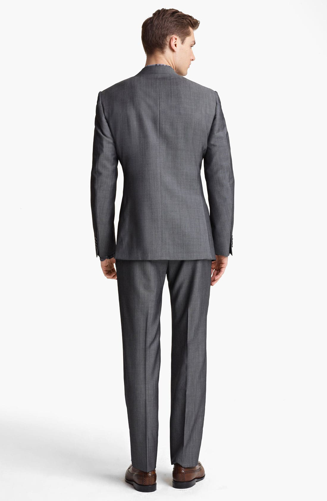 Alternate Image 3  - Z Zegna Trim Fit Wool Blend Suit